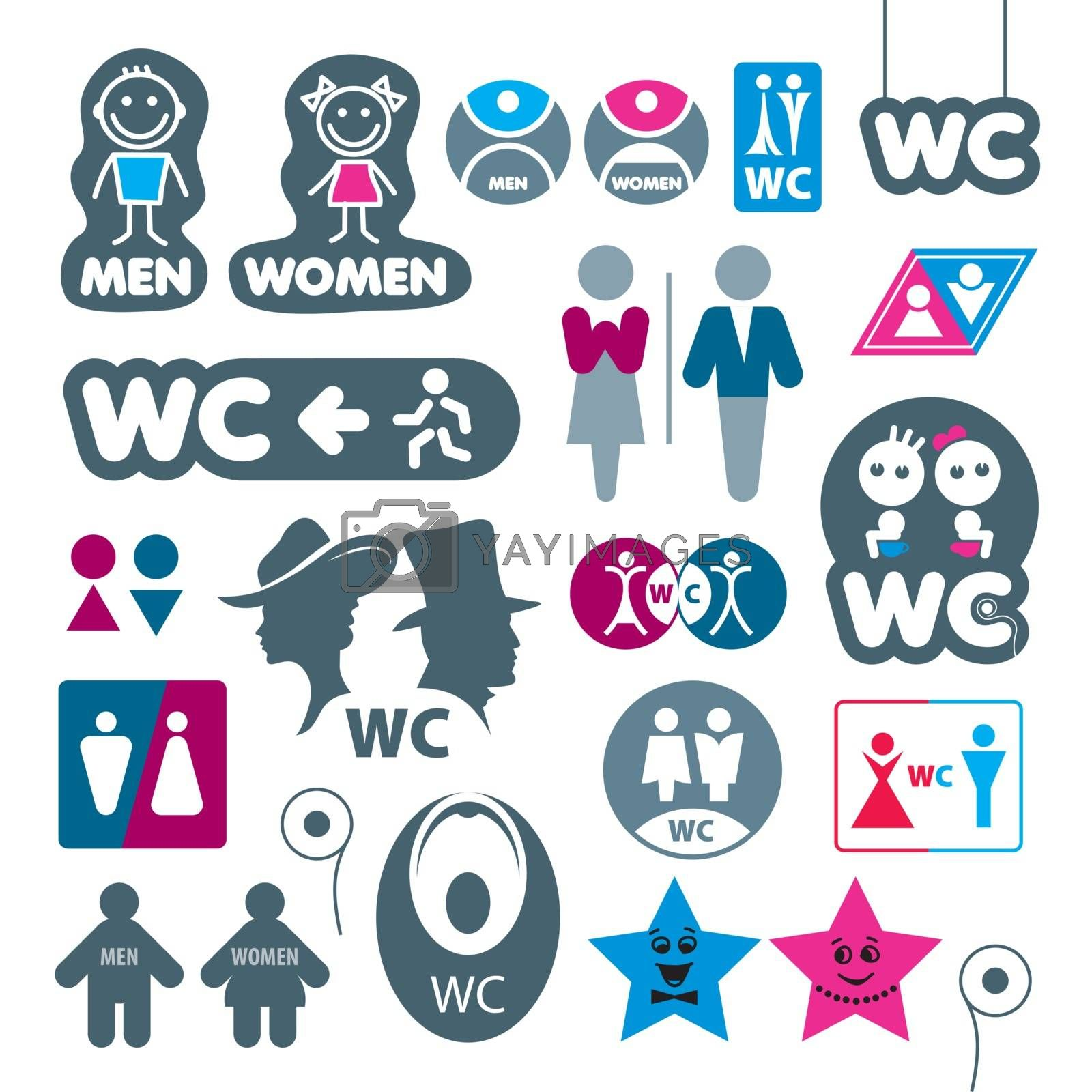 biggest collection of vector labels toilet