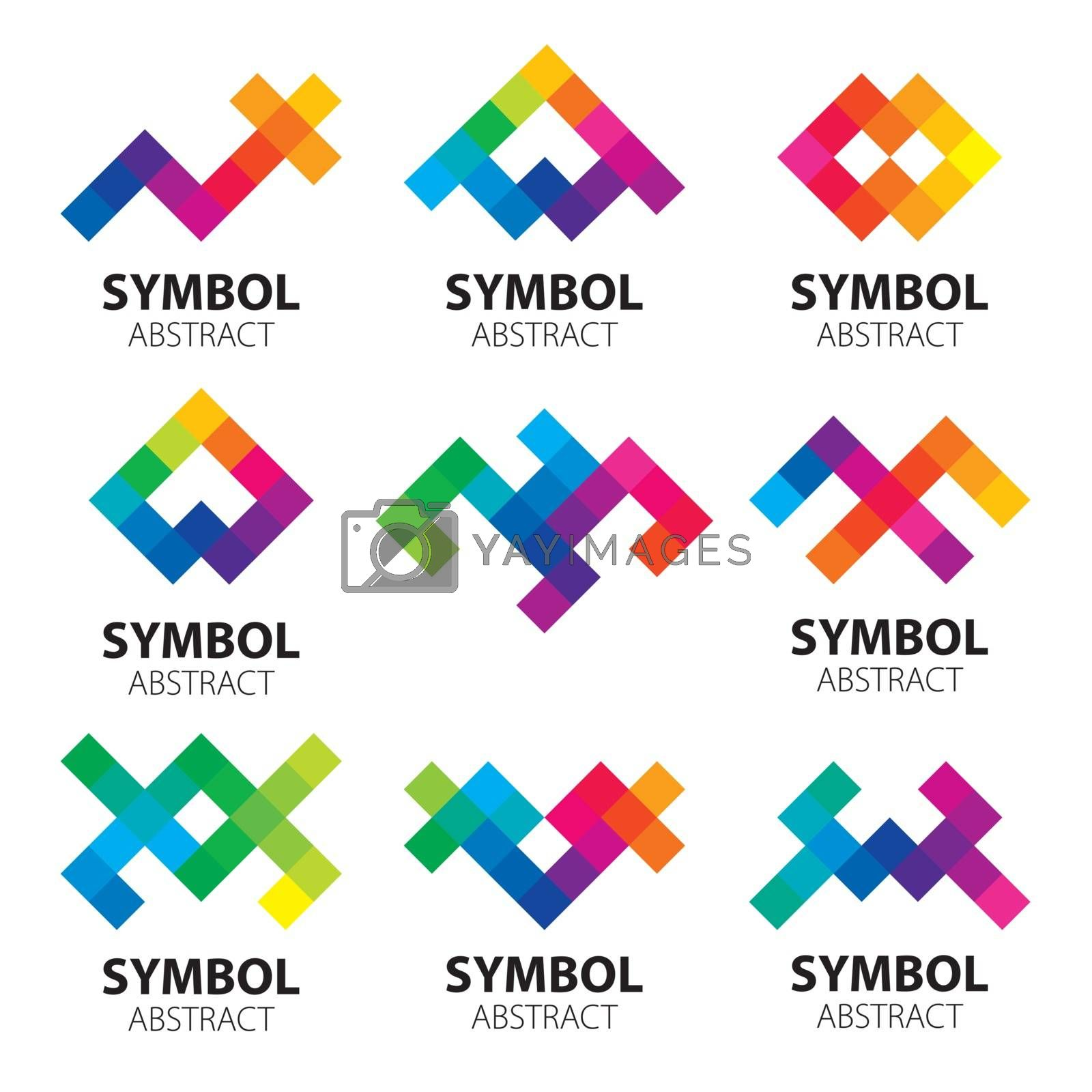 large collection of abstract vector logos of the modules