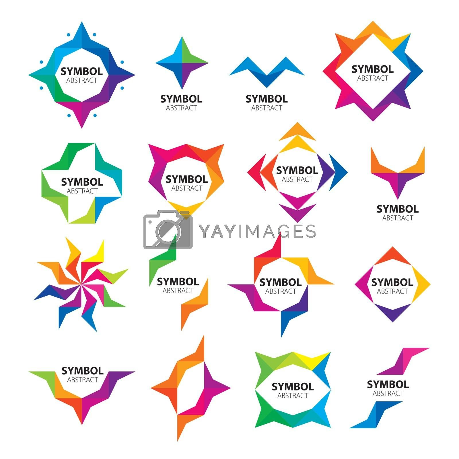 large set of abstract vector logos of the modules