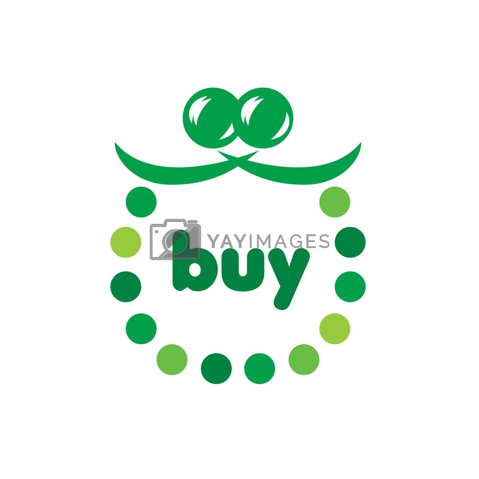 vector logo green purse circles