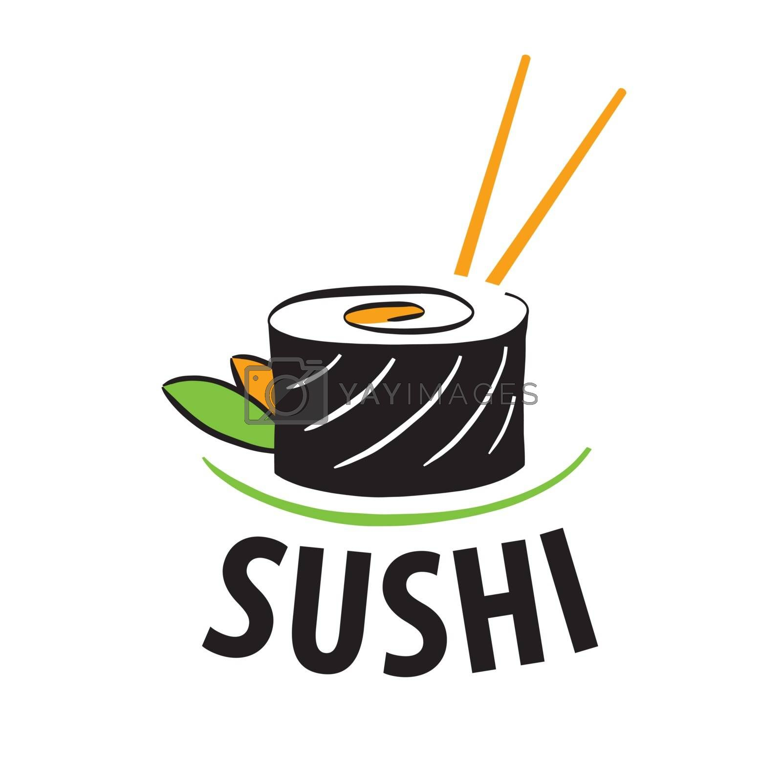 vector logo Japanese food sushi