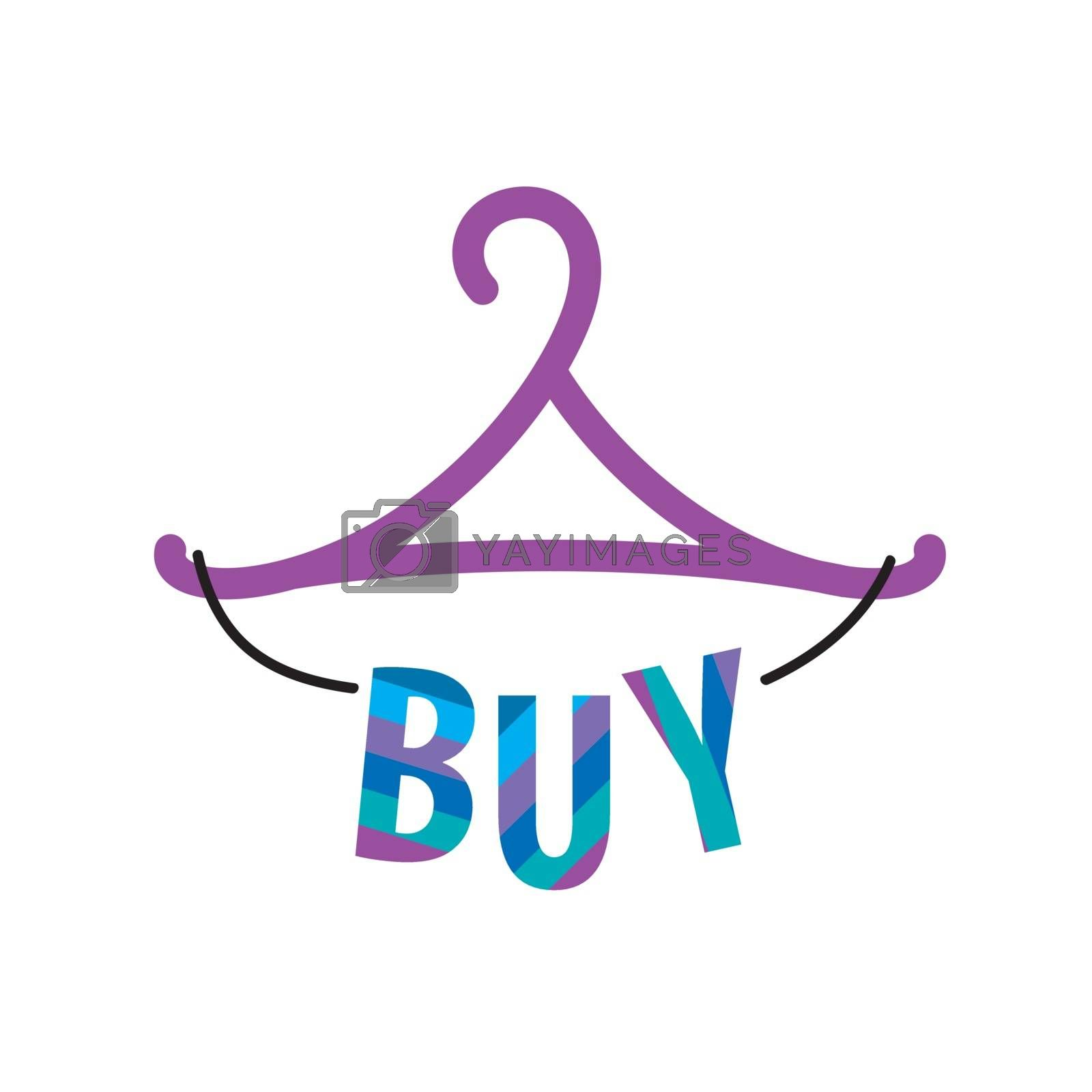 vector logo hanger with the inscription buy