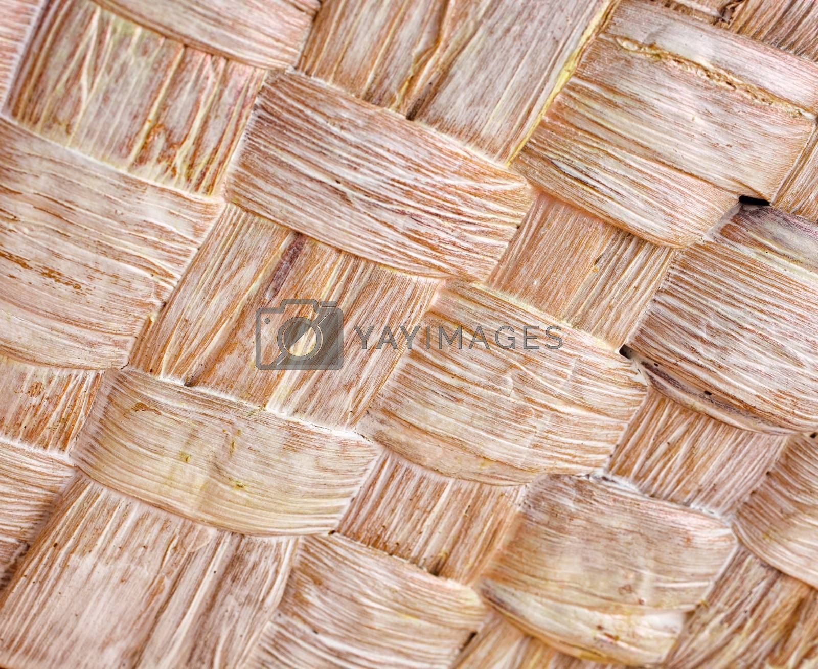 Texture wicker basket
