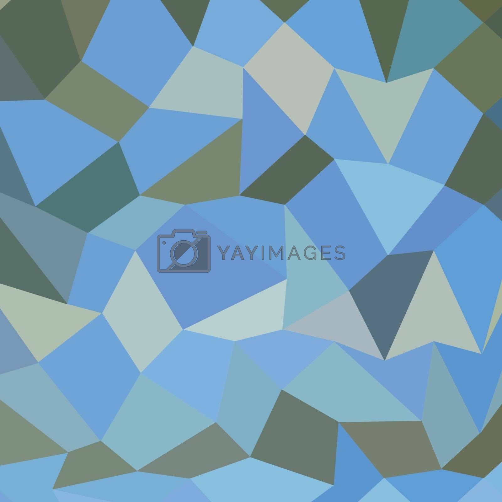 Royalty free image of Bondi Blue Abstract Low Polygon Background by patrimonio