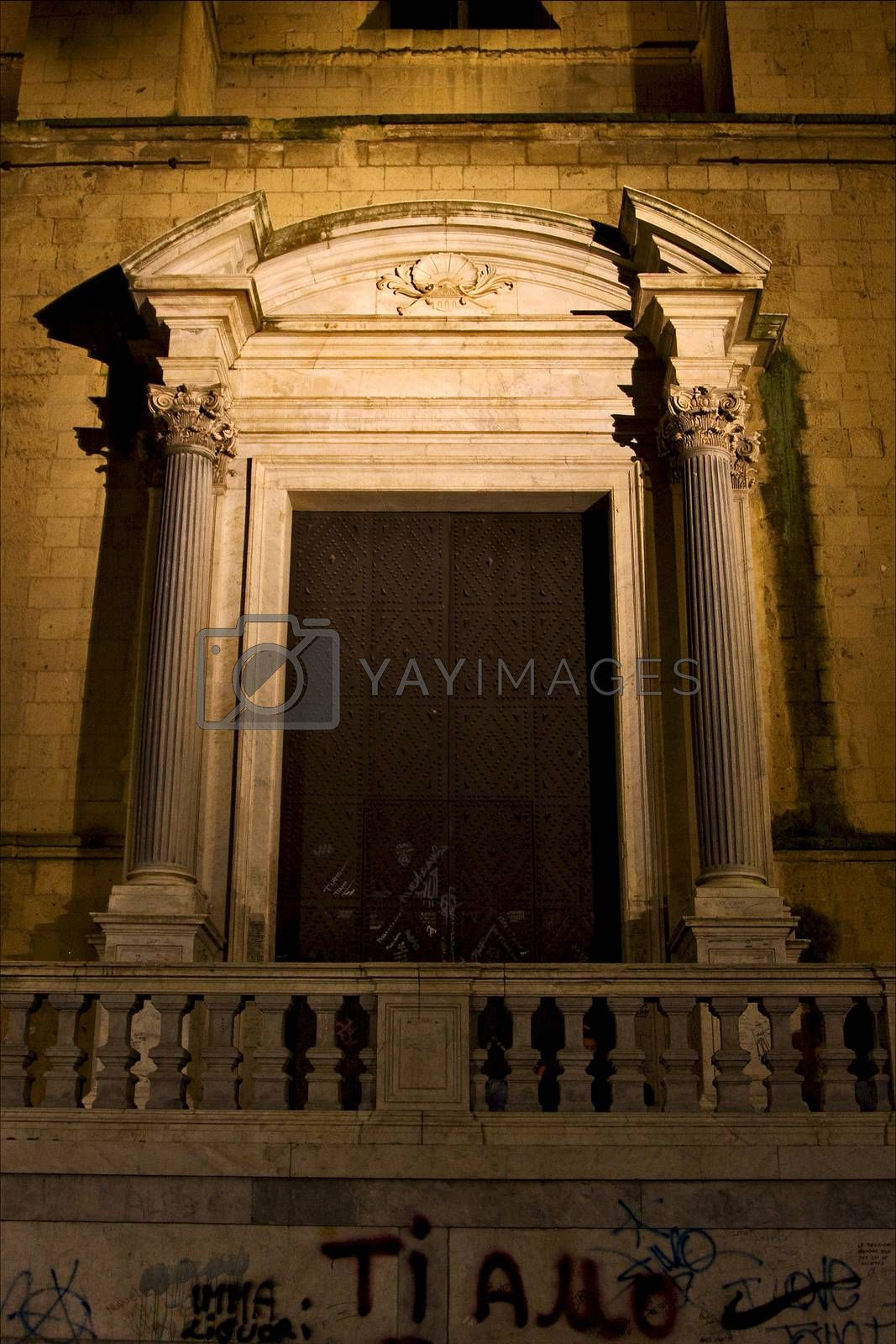 Royalty free image of  brown gate  in  naples by lkpro