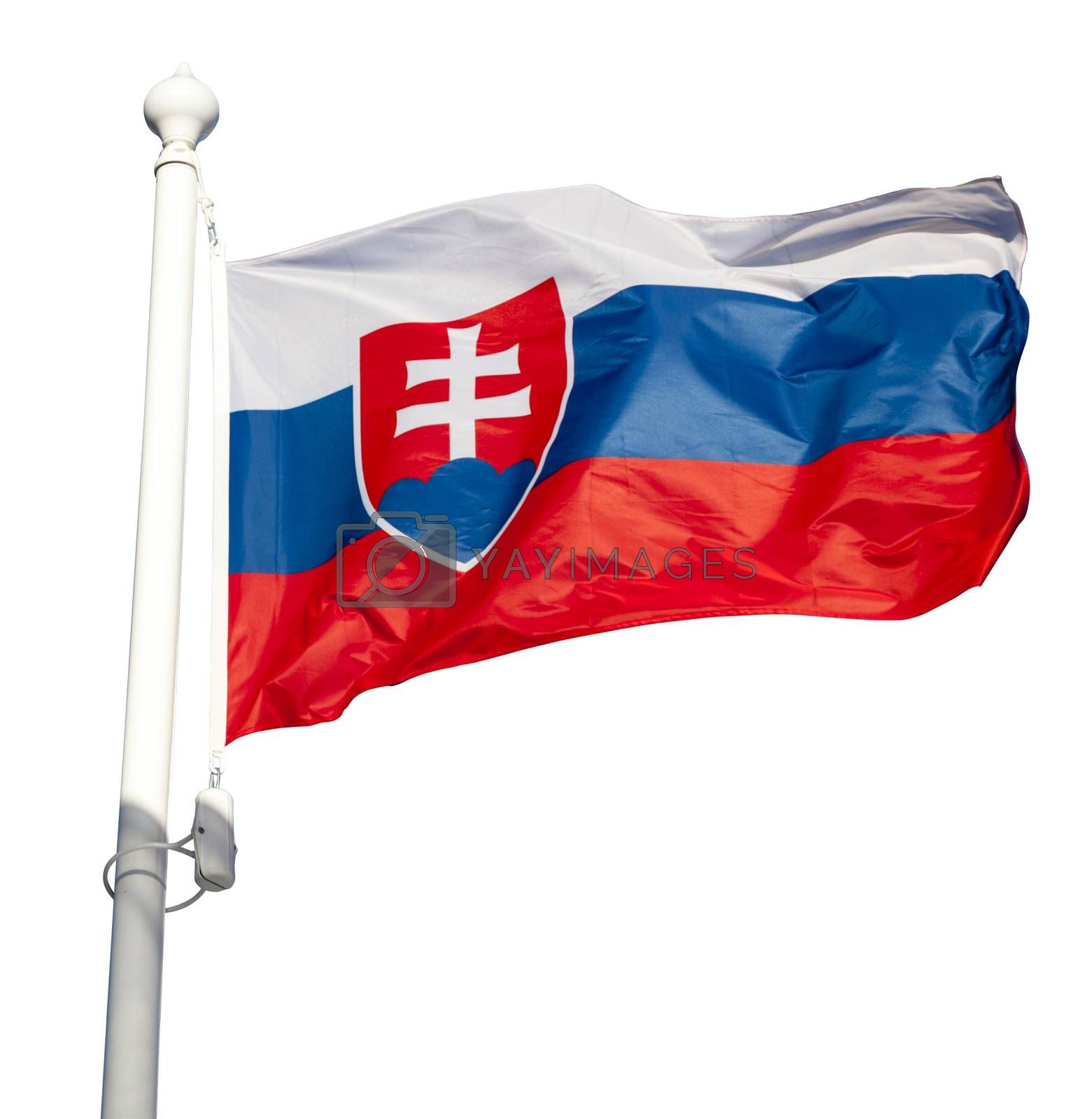 Waving flag of Slovakia by ints