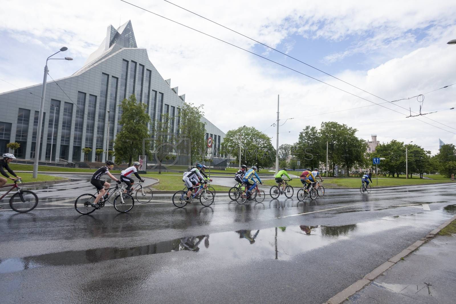 Royalty free image of Participants of Riga Cycling Marathon  by ints
