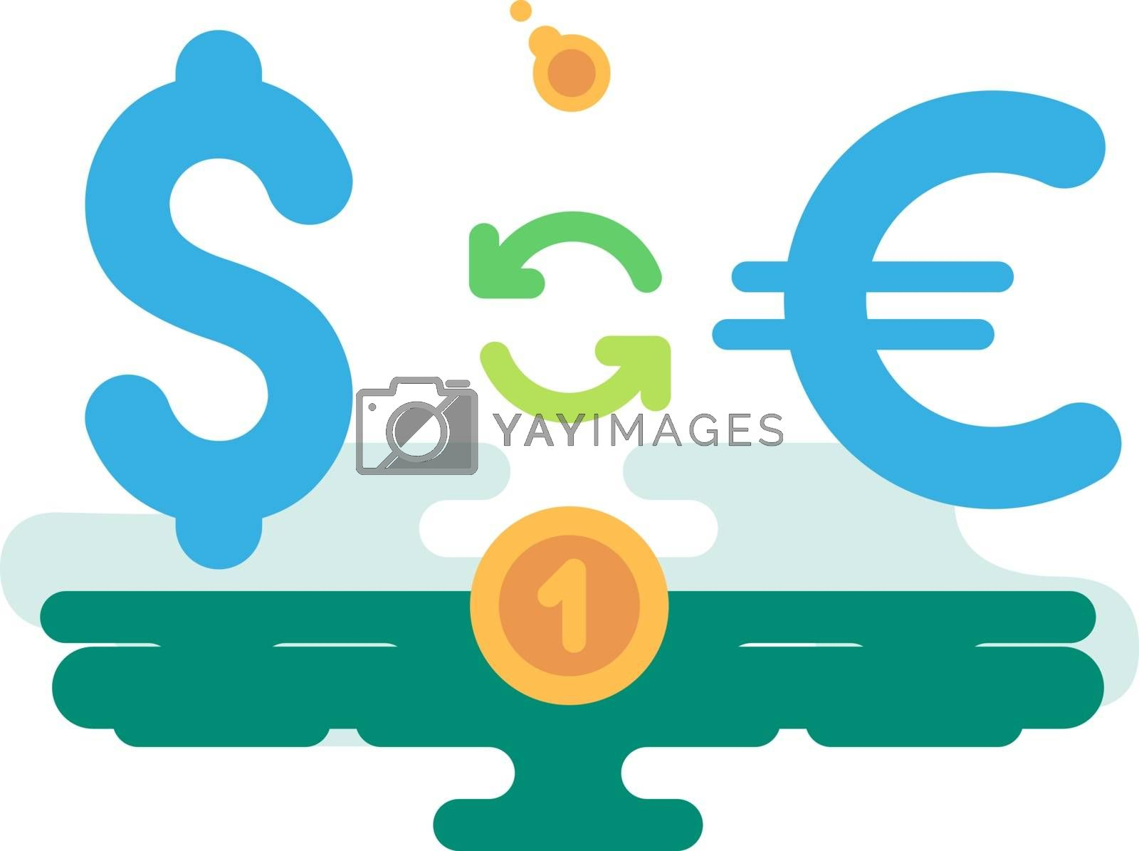 Royalty free image of Dollar Euro Currency Exchange by jossdiim