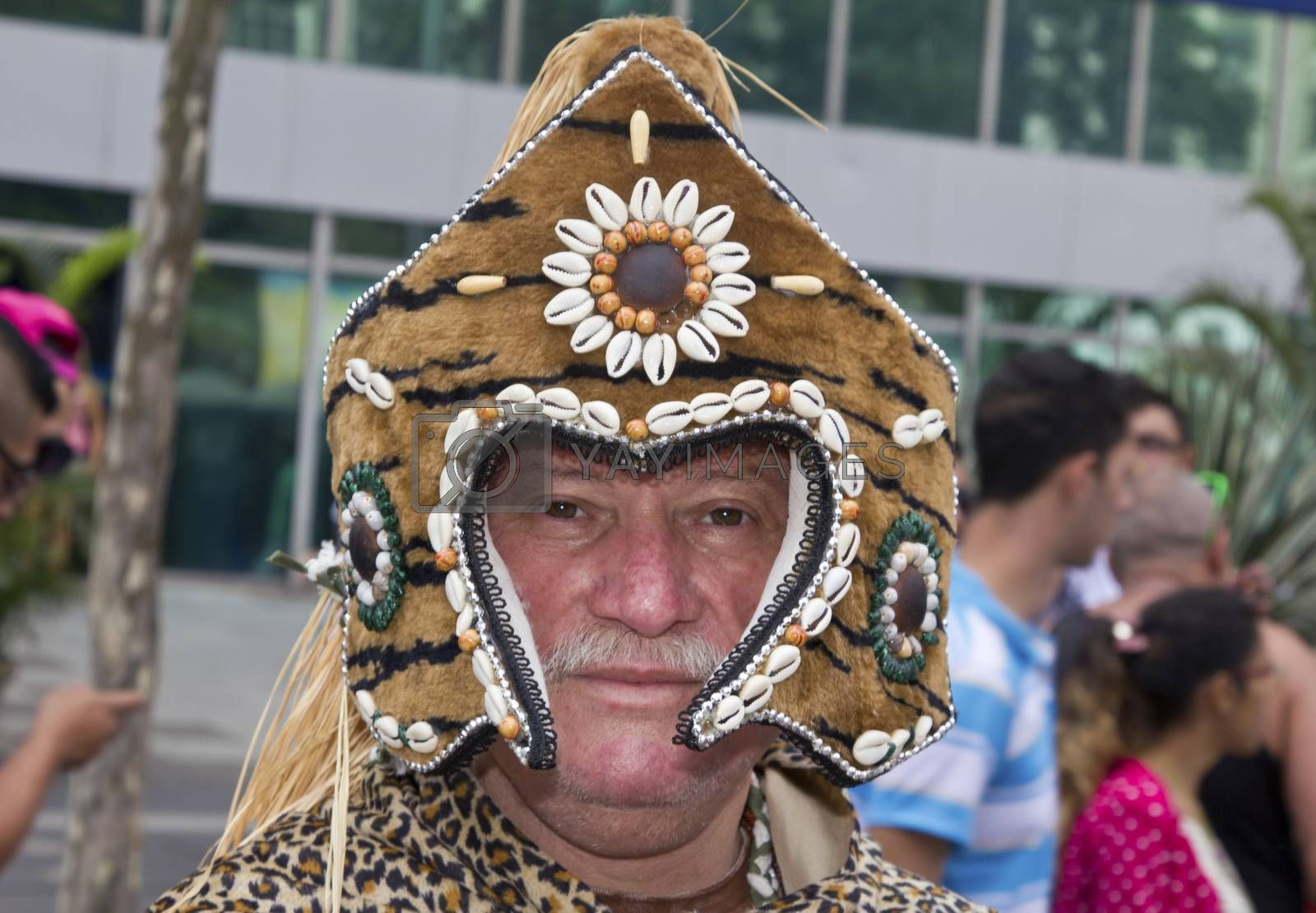 Royalty free image of One person wearing costume in Pride Parade Sao Paulo by marphotography