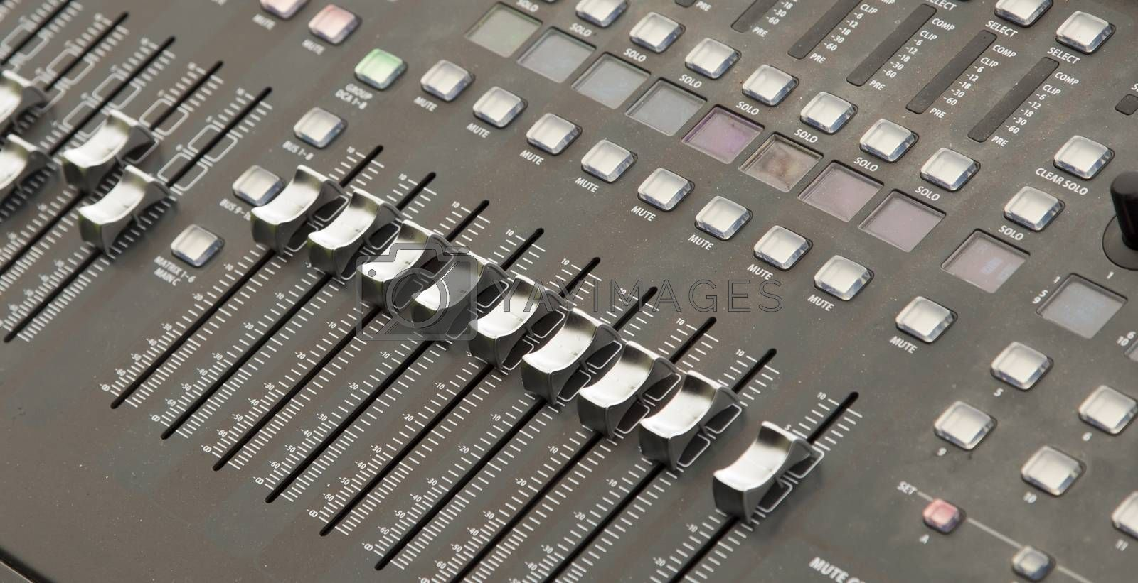Mixing Panel Close Up by Emmoth