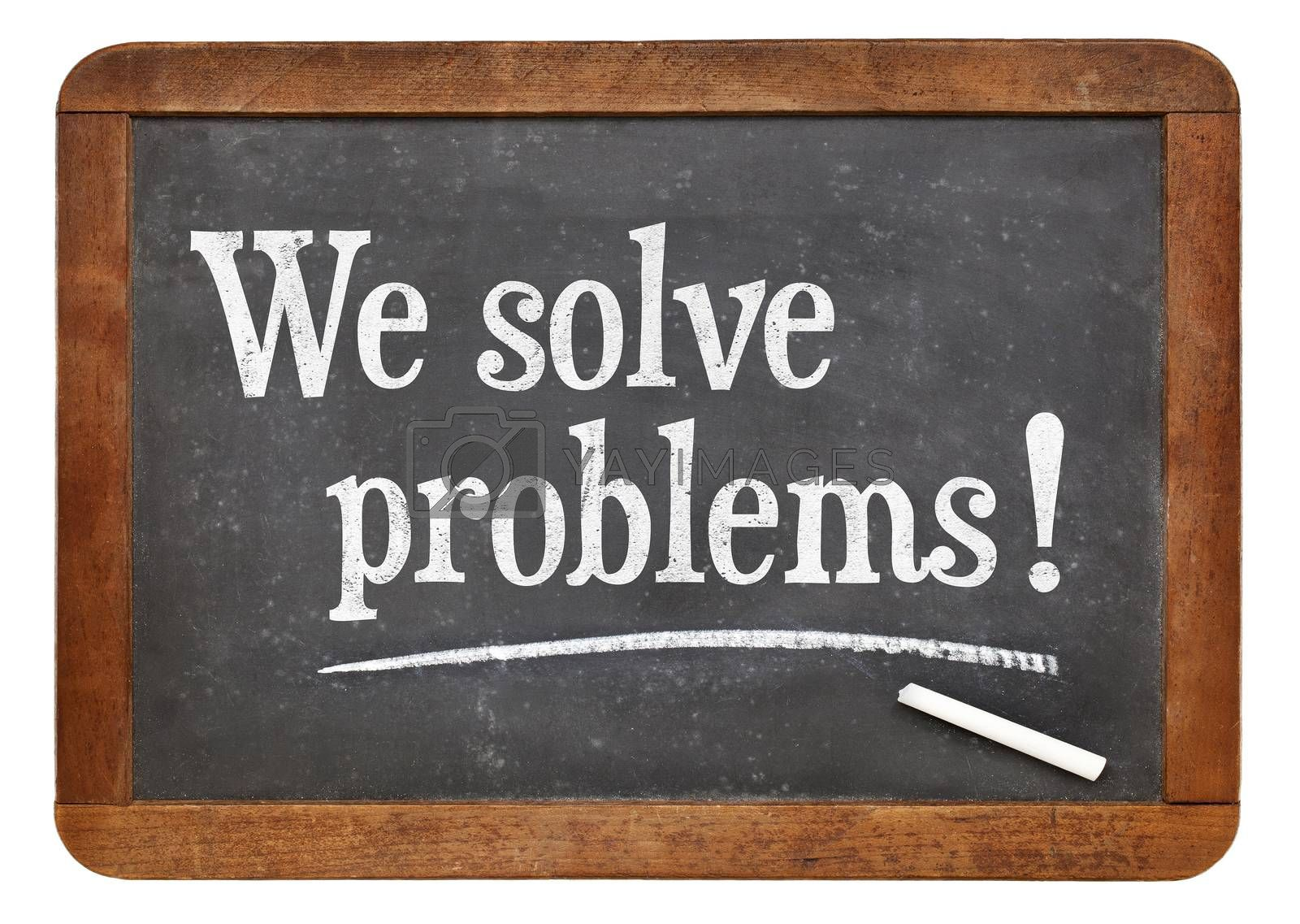 Royalty free image of We solve problems - service marketing by PixelsAway