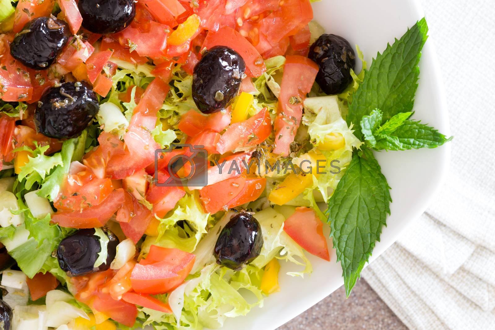 Royalty free image of Healthy farm fresh Mediterranean salad by coskun