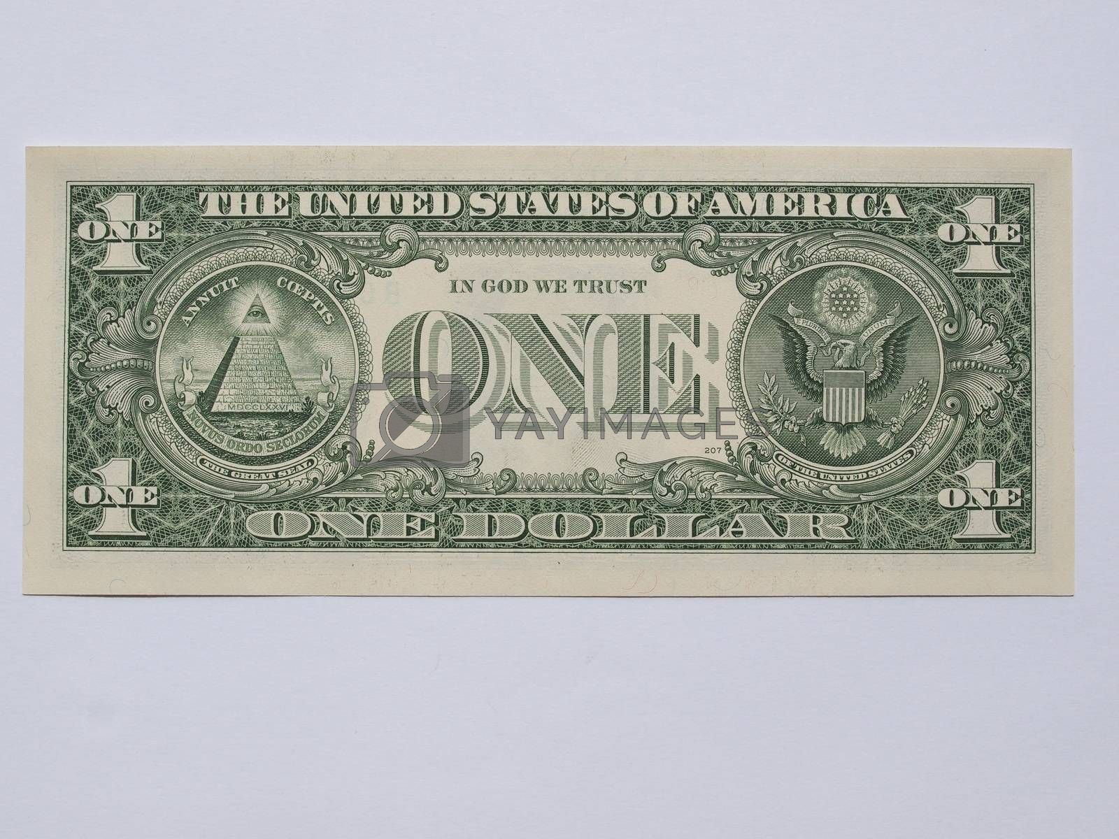 Royalty free image of 1 Dollar note by paolo77