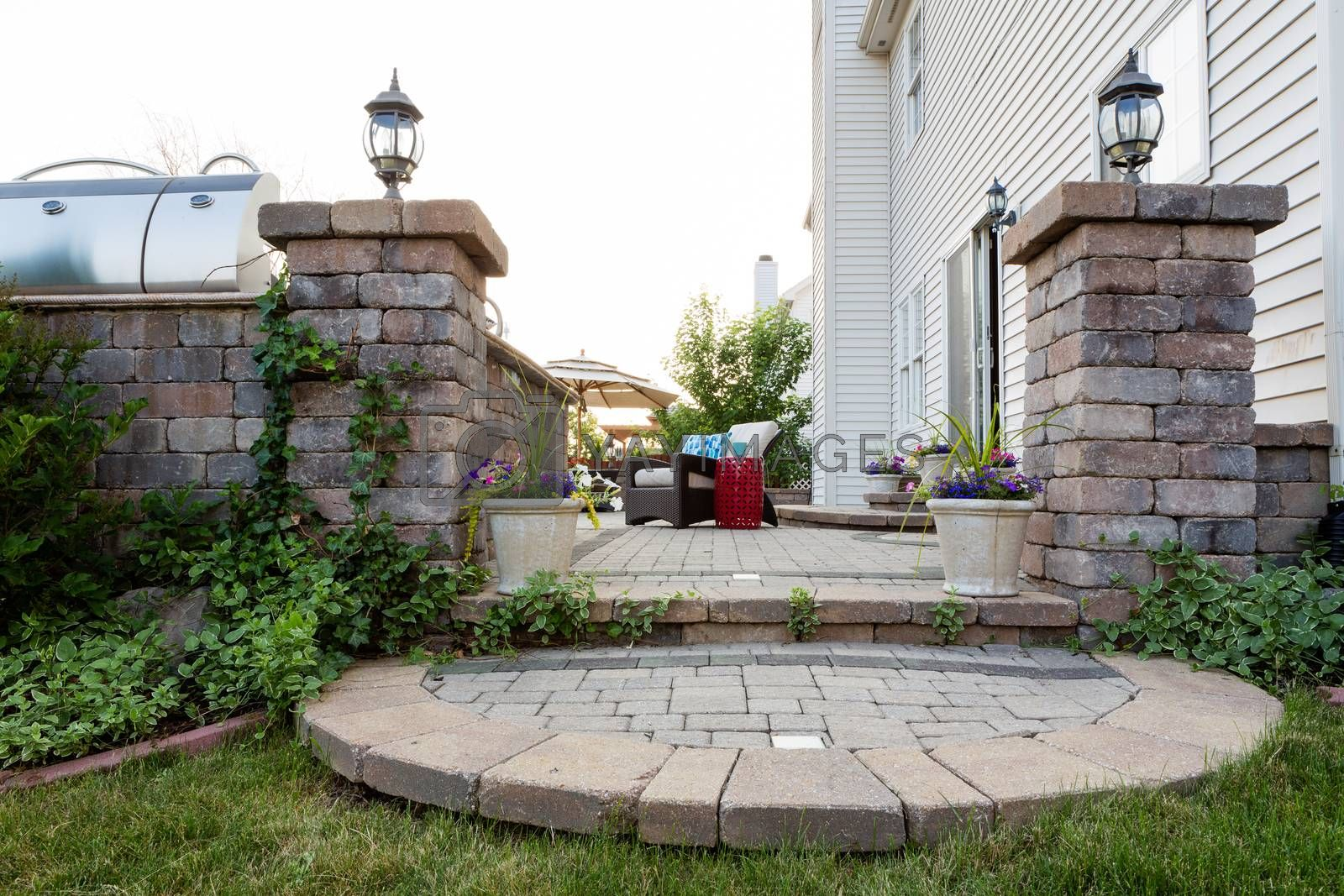 Royalty free image of Welcoming entrance to an outdoor patio by coskun