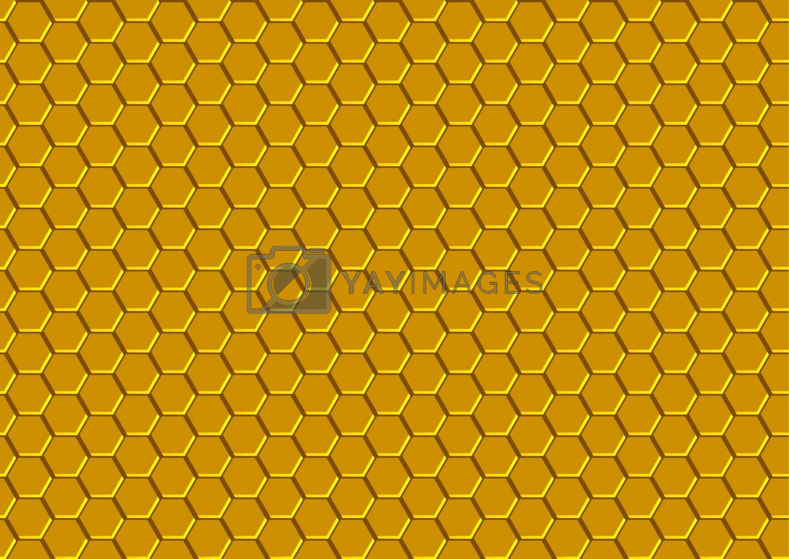 Honeycomb Texture - Background Pattern Illustration, Vector