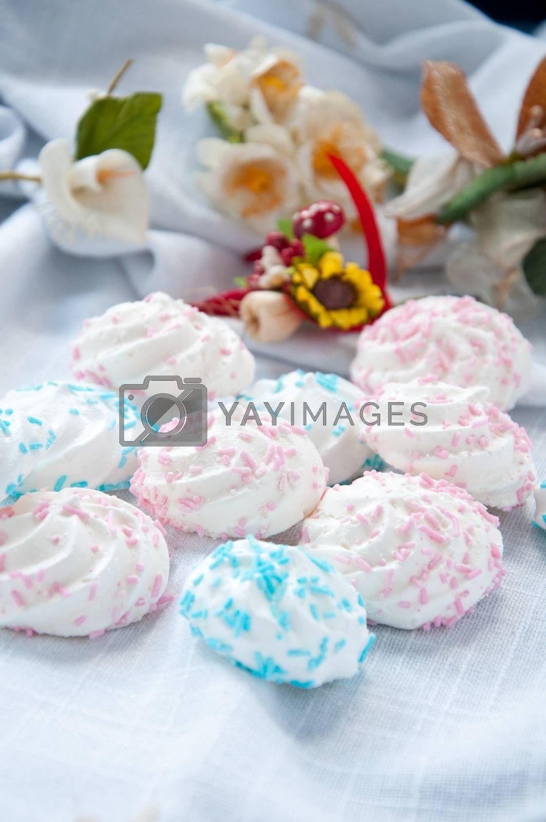 Royalty free image of Meringue small tasty sweet made from sugar and egg by gringox