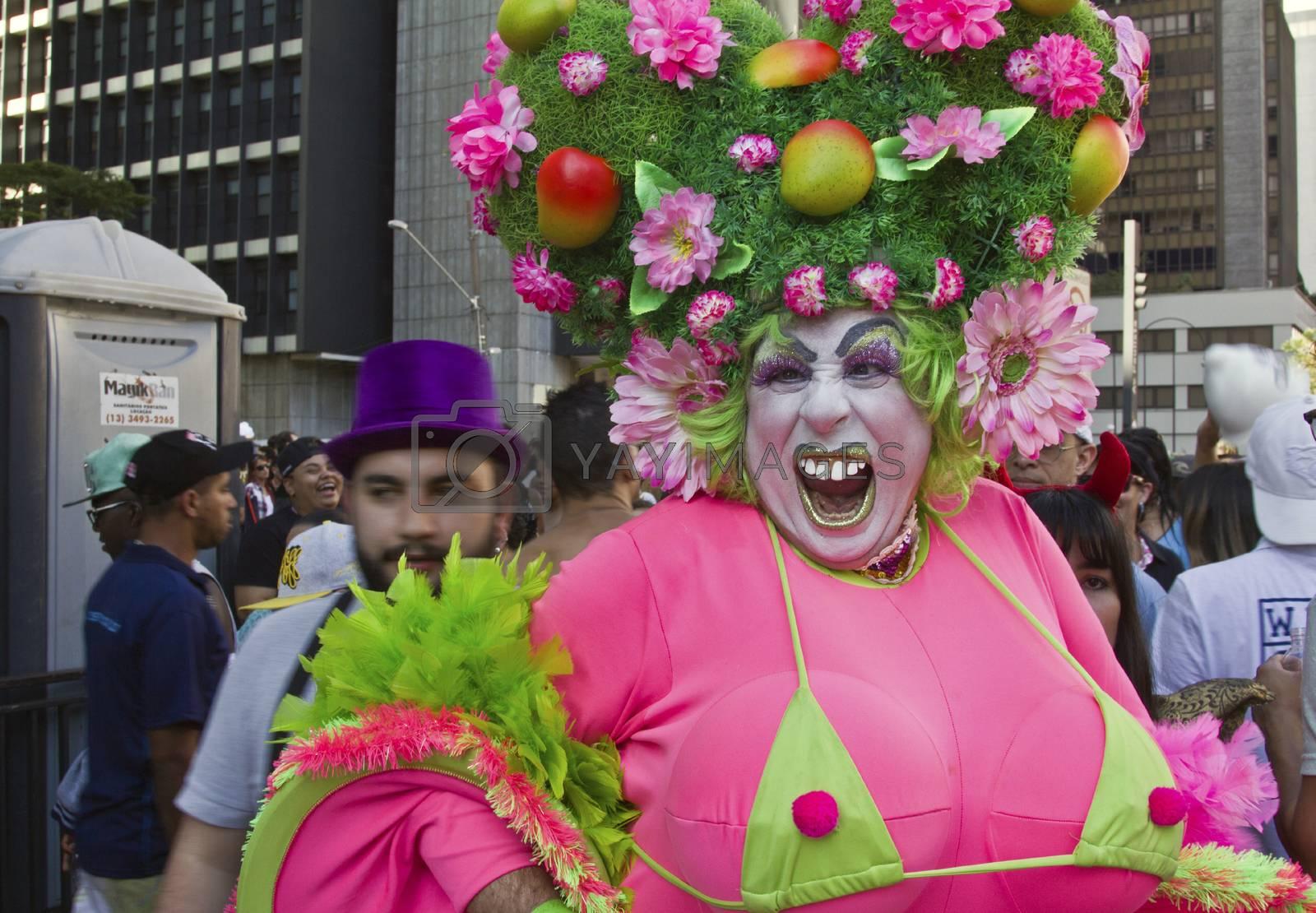 Drag Queen in Pride Parade Sao Paulo by marphotography