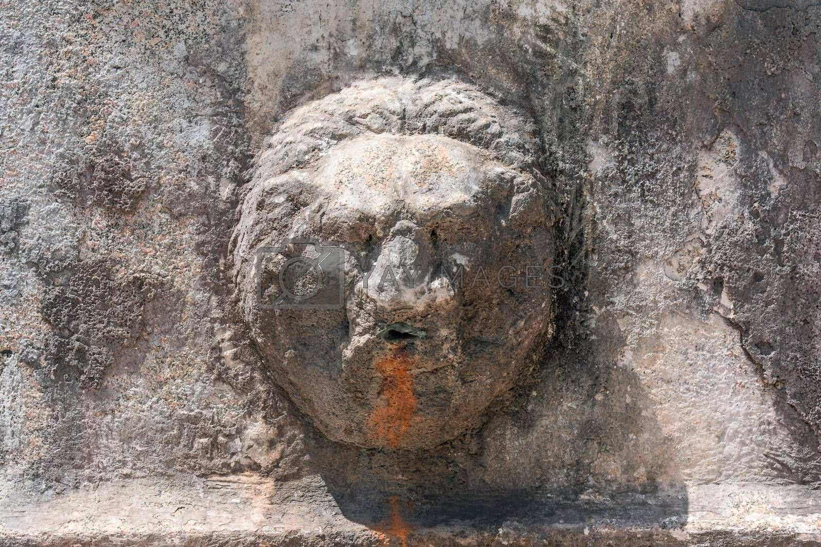 Royalty free image of detail of a Roman fountain by EnzoArt
