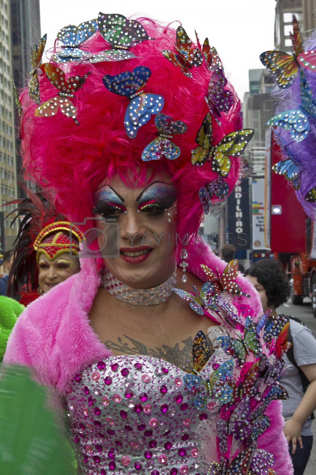 Royalty free image of Drag Queen in Pride Parade Sao Paulo by marphotography