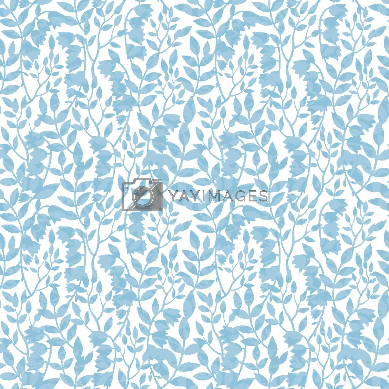Royalty free image of Vector Blue Floral Shadows Seamless Pattern by Oksancia