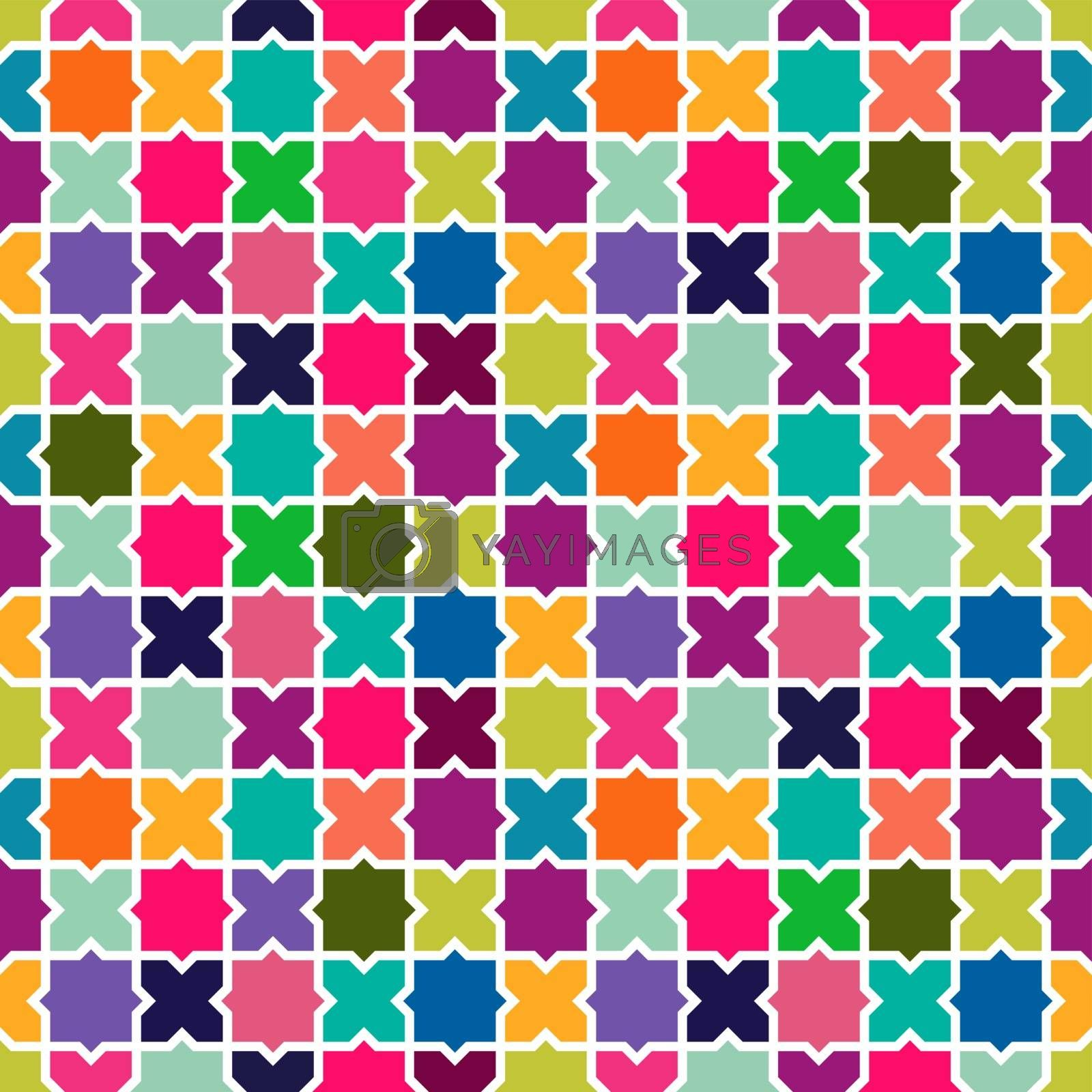 Abstract colorful mosaic pattern background by cienpies