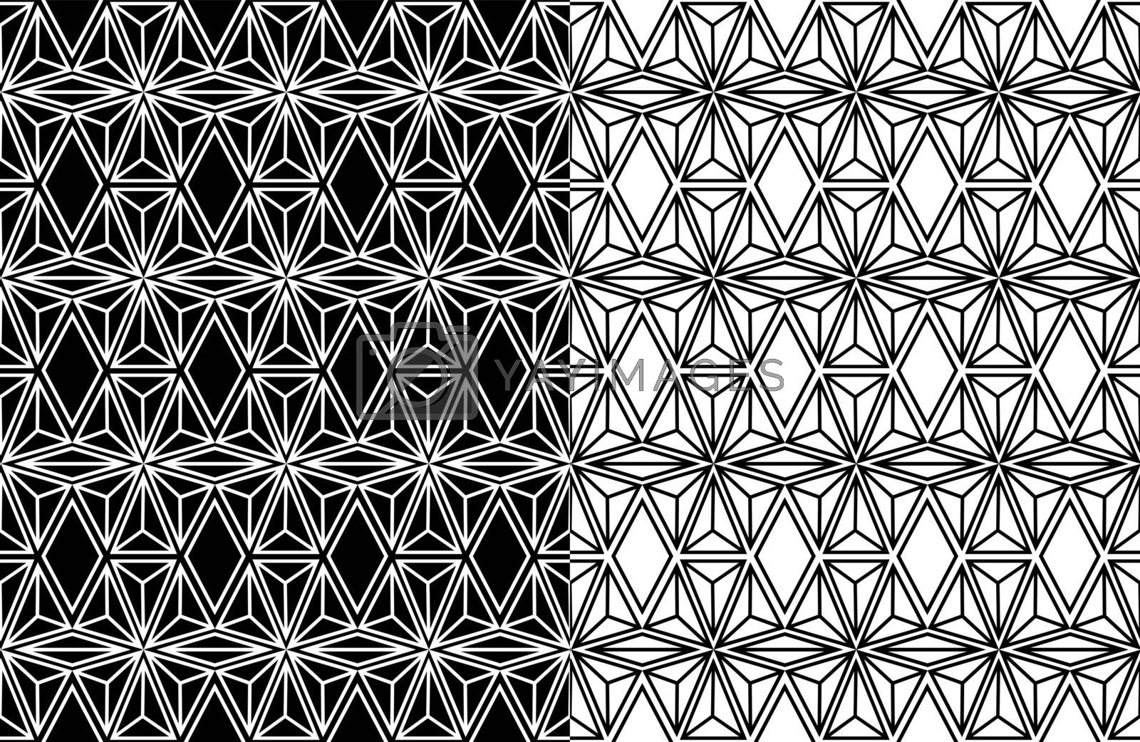 Royalty free image of Abstract geometric seamless pattern background by cienpies