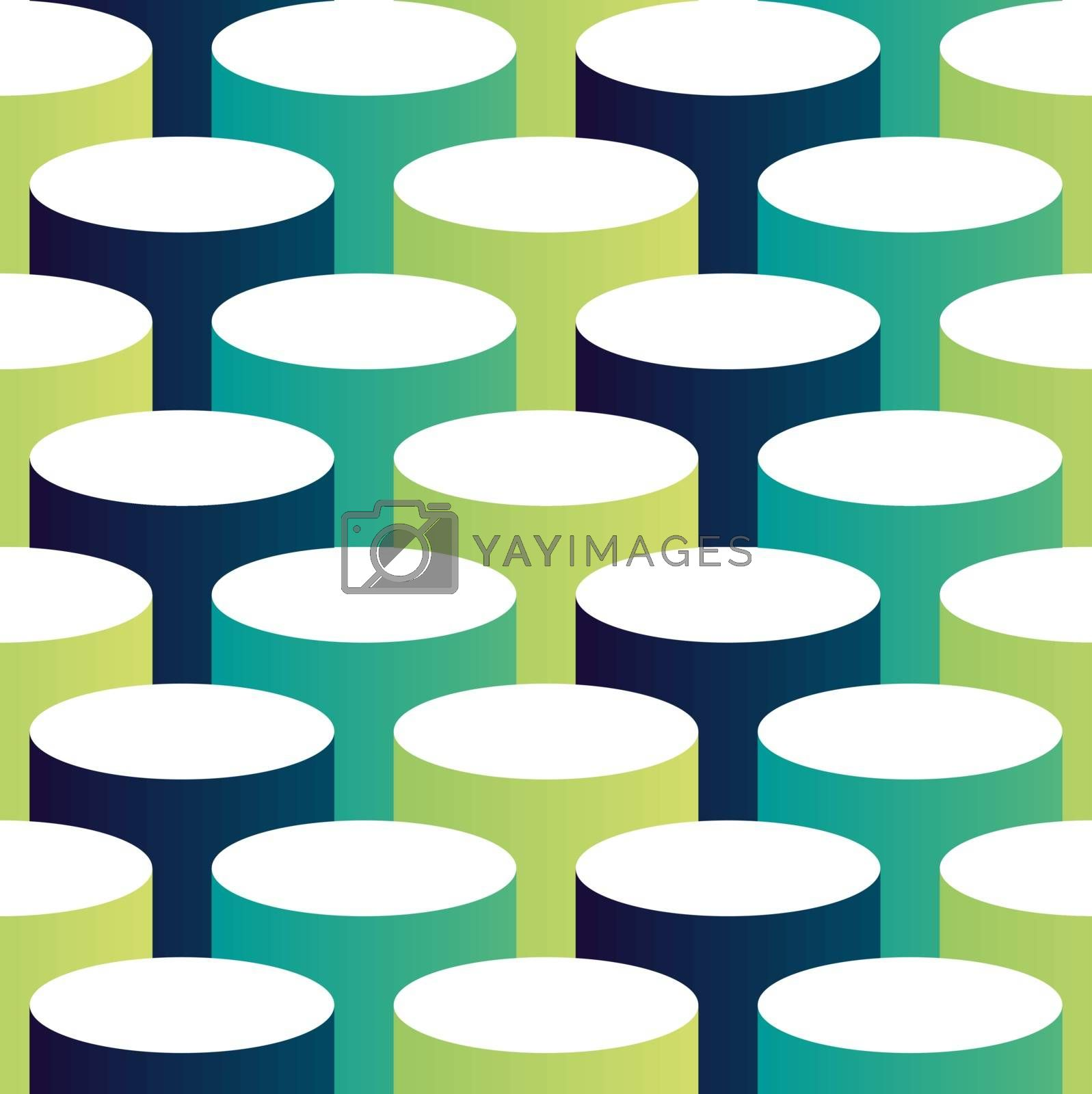 Royalty free image of Abstract isometric 3d circle pattern background by cienpies