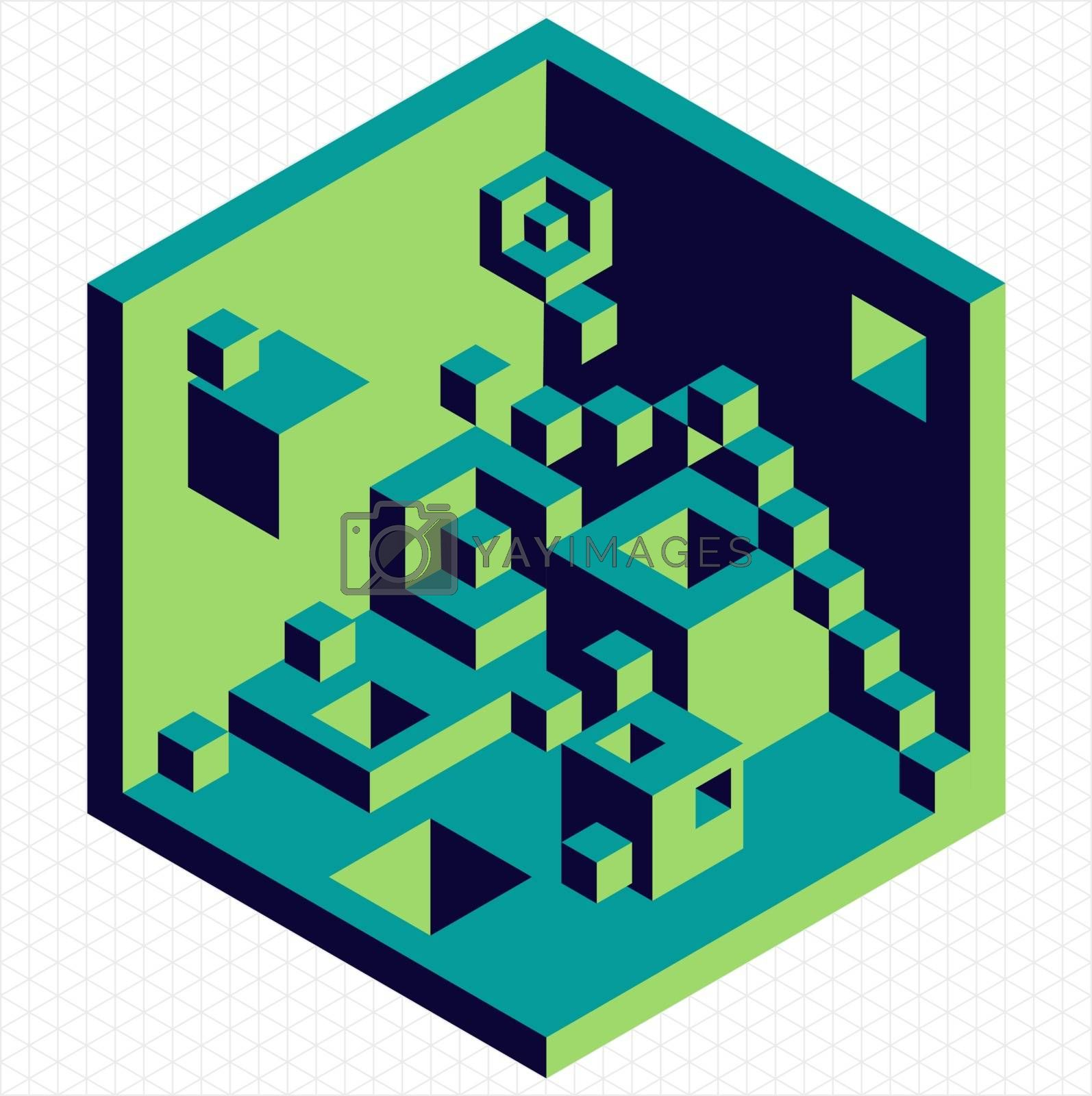 Royalty free image of Isometric 3d cubes shape illustration by cienpies