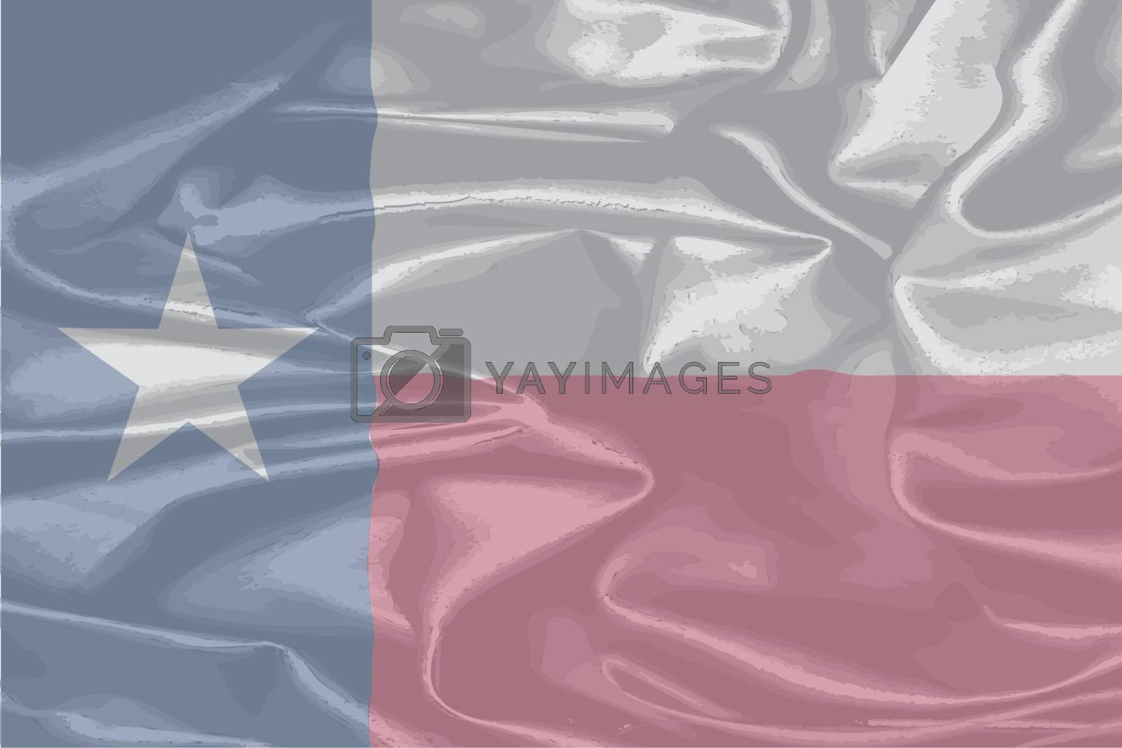 Royalty free image of Texas Silk Flag by Bigalbaloo
