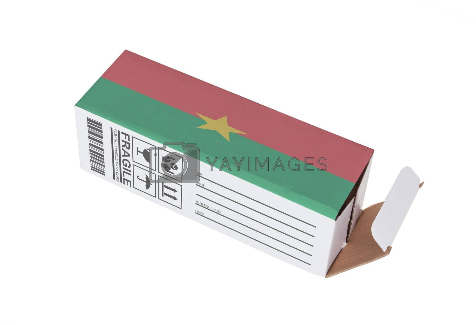 Royalty free image of Concept of export - Product of Burkina Faso by michaklootwijk