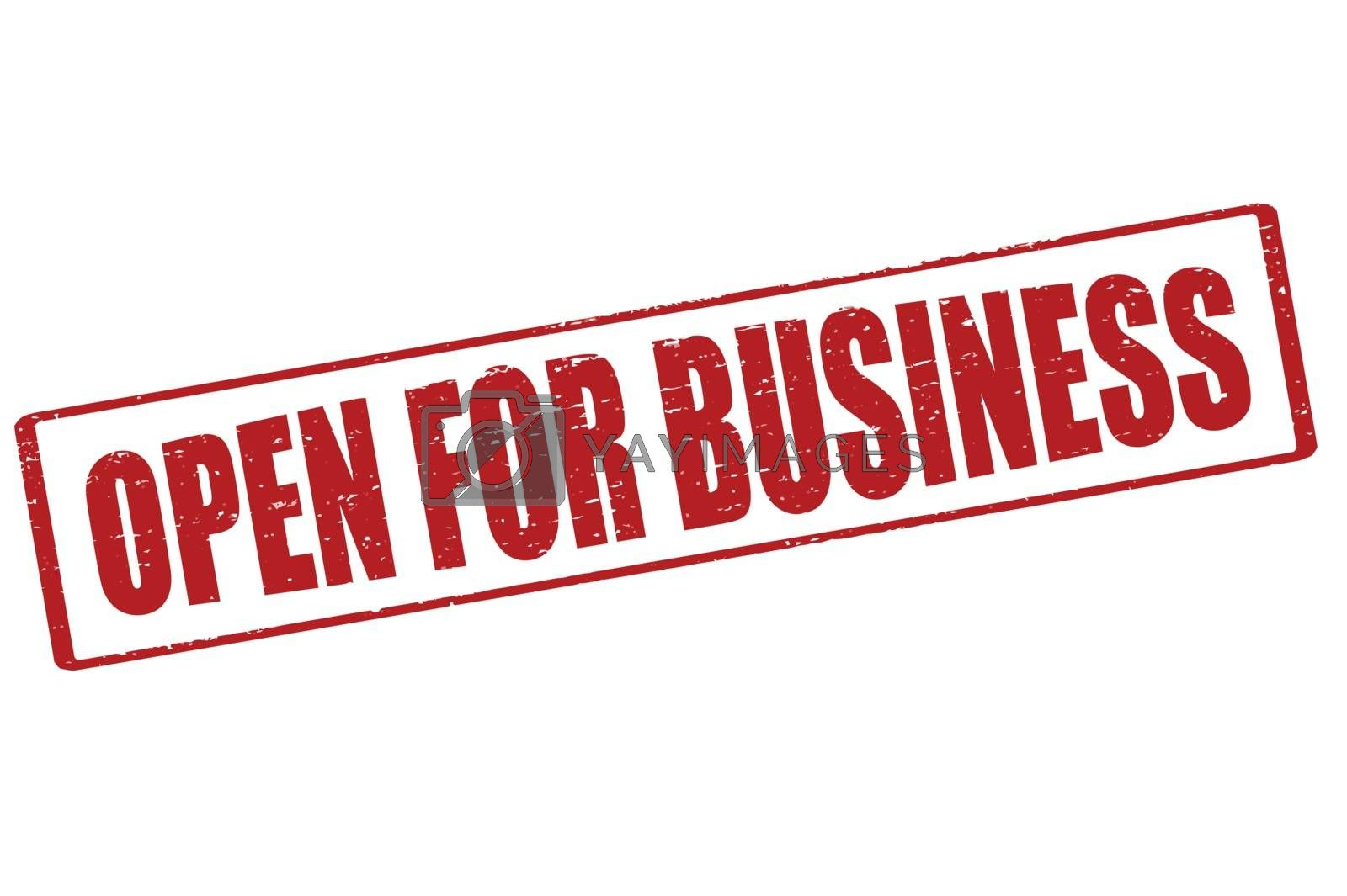 Royalty free image of Open for business by carmenbobo