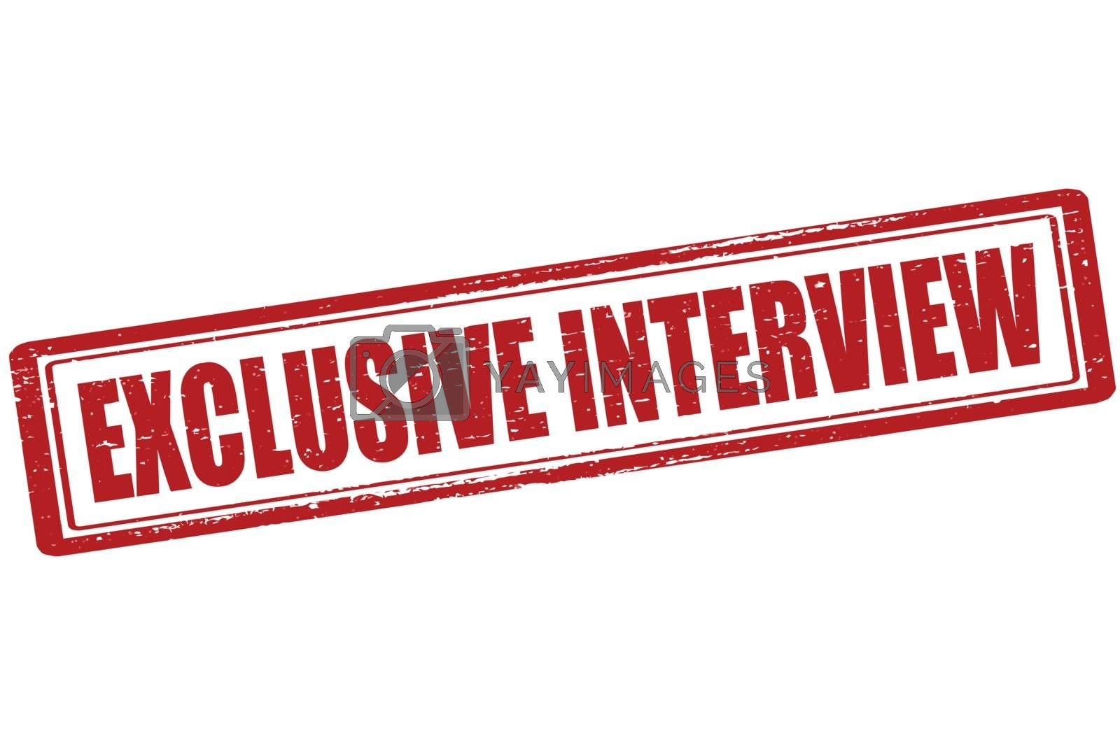 Royalty free image of Exclusive interview by carmenbobo