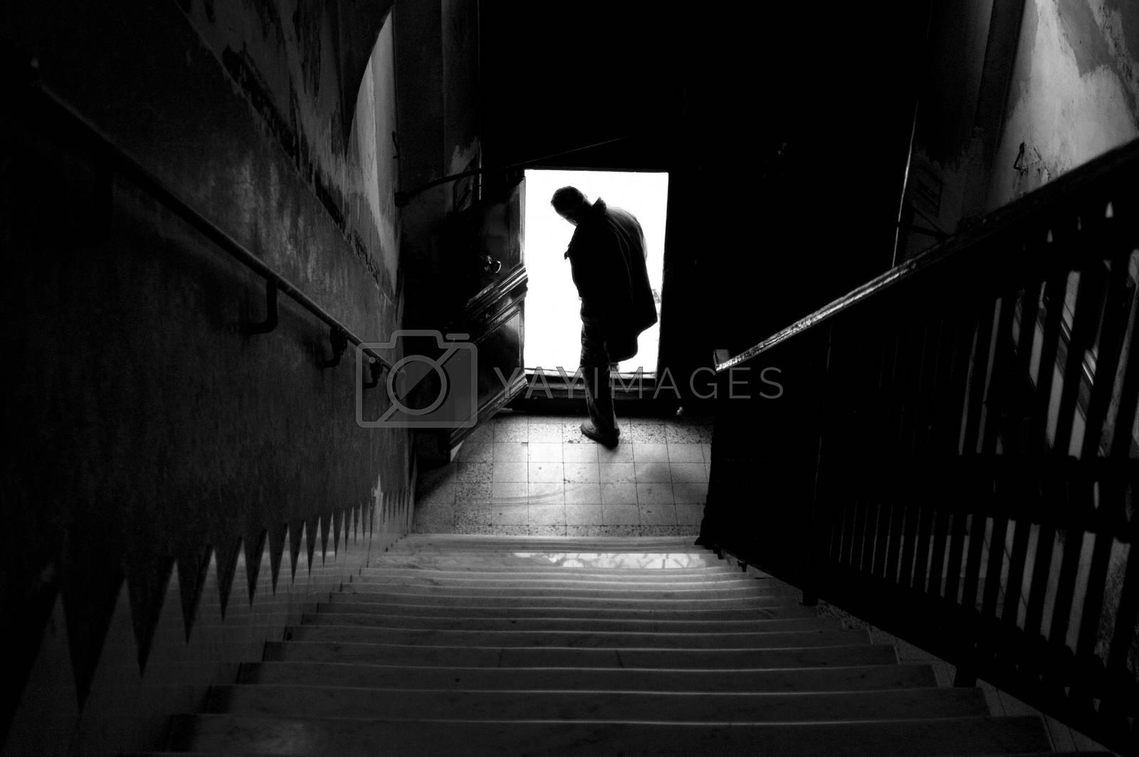Royalty free image of silhouette by antonio.li
