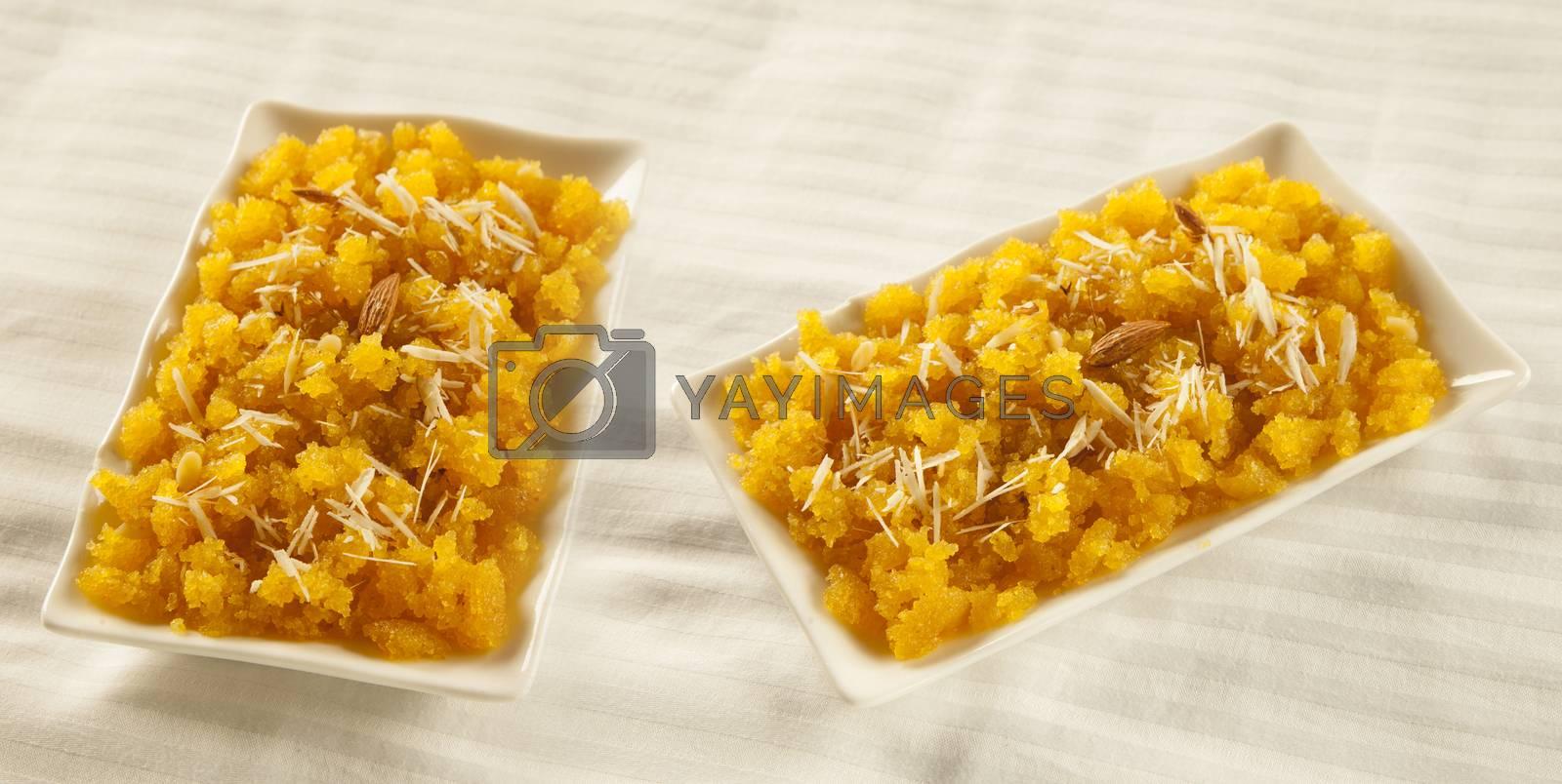 Royalty free image of Suji halwa indian pakistani sweet cuisine  by haiderazim
