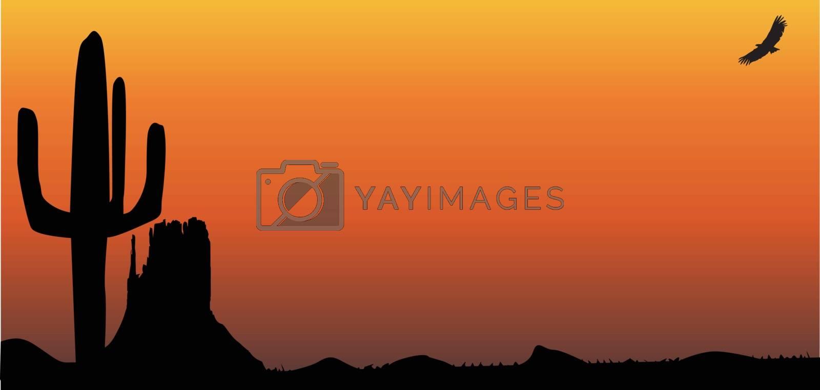 Royalty free image of Texas Sunset by Bigalbaloo