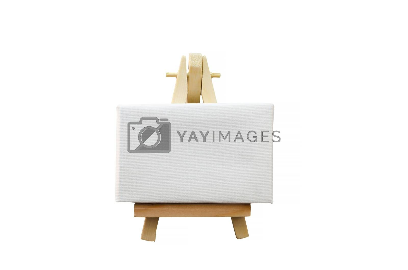 Miniature artist easel, isolated against a white background.