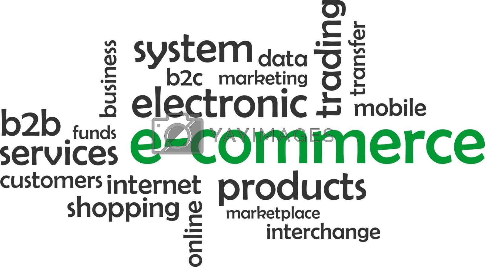 Royalty free image of word cloud - e-commerce by master_art