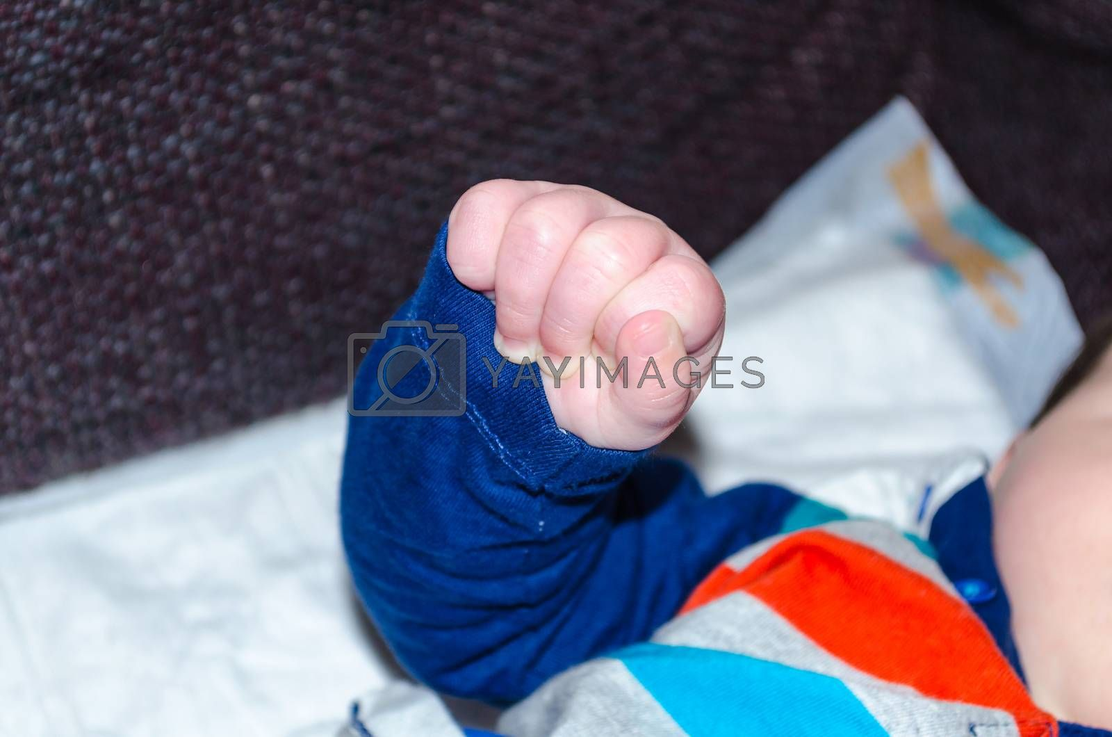 Close-up, clenched fist baby.