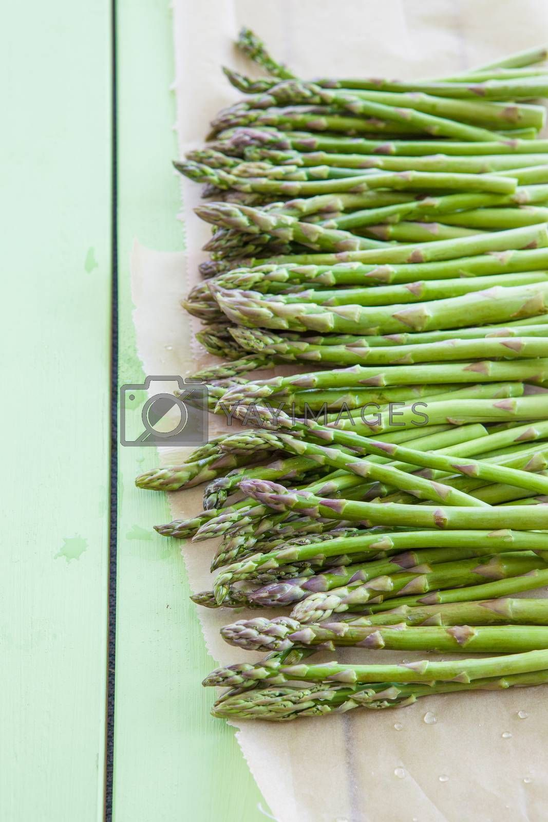 Royalty free image of Green asparagus  by BarbaraNeveu