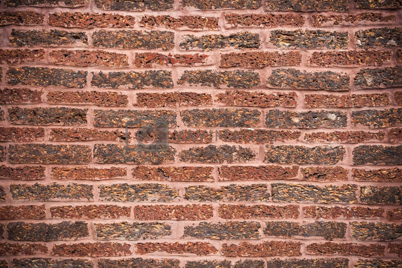 Royalty free image of High resolution pictures  modern pattern of brick wall by nopparats