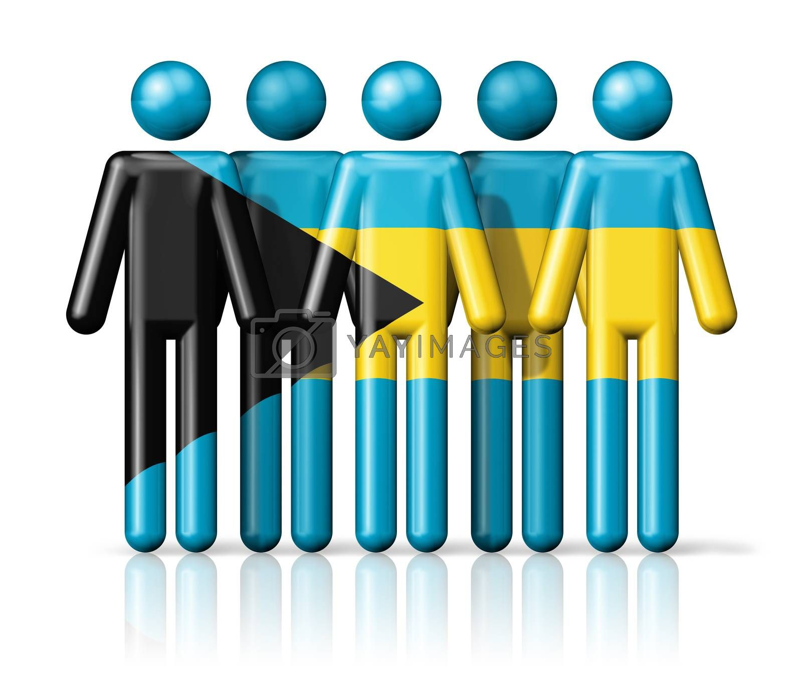 Royalty free image of Flag of Bahamas on stick figure by daboost