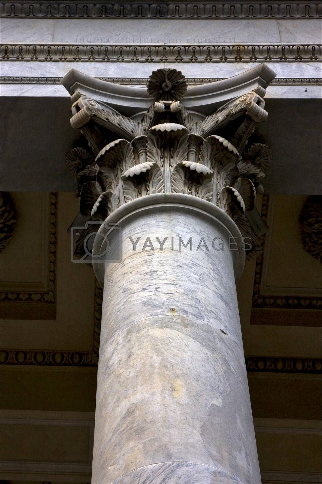 Royalty free image of column in the center of chiavari italy by lkpro