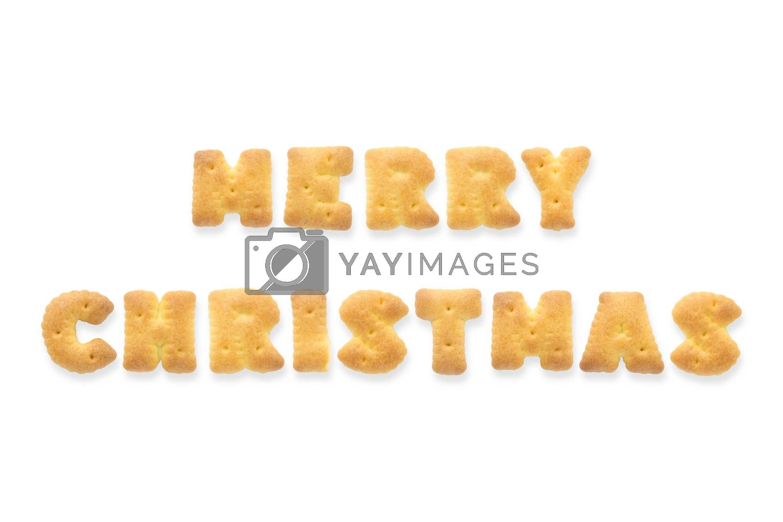 Royalty free image of The Letter Word MERRY CHRISTMAS. Alphabet  Cookie Cracker by vinnstock