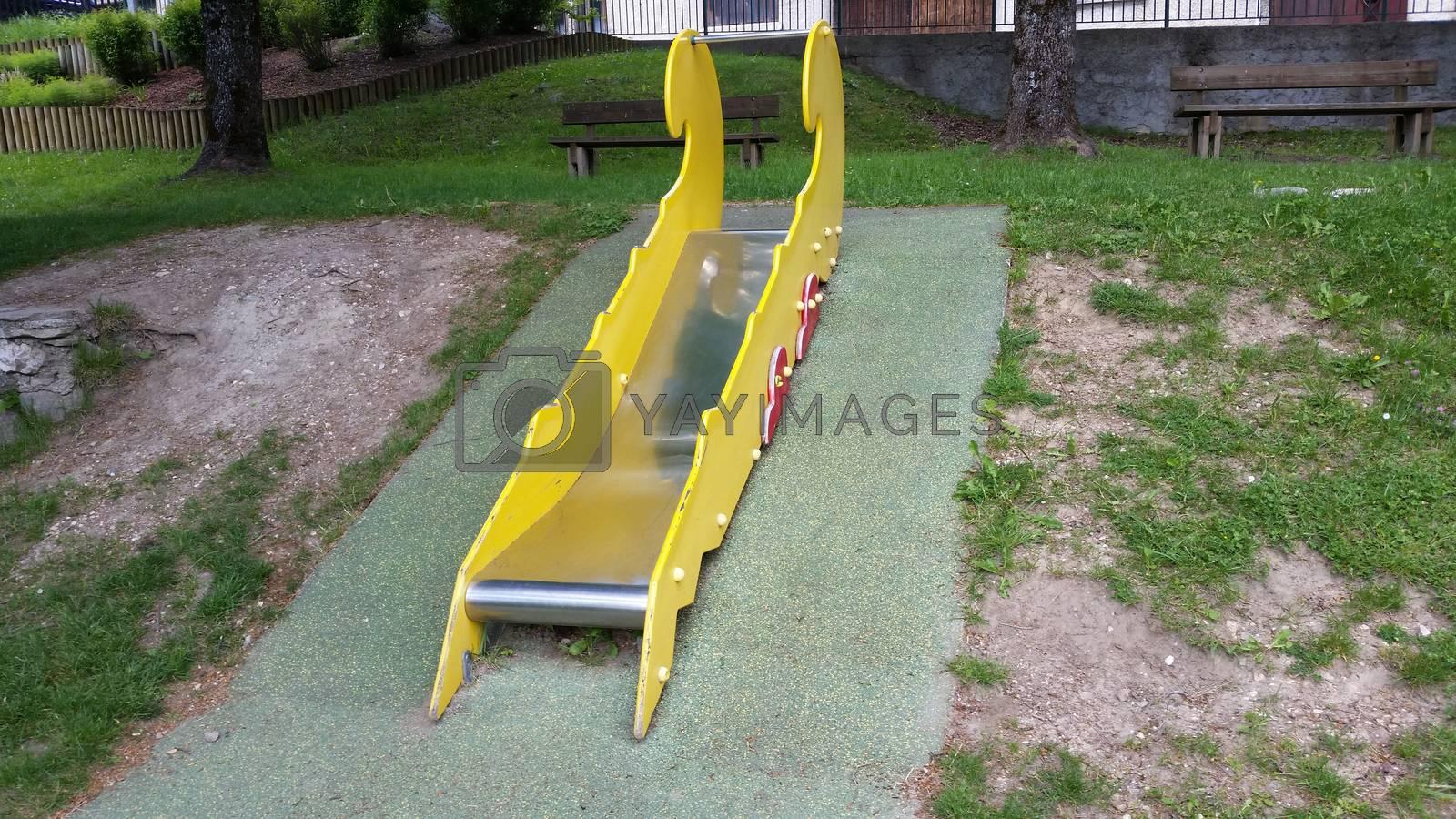 children playground in the park in Villard-de-Lans, France