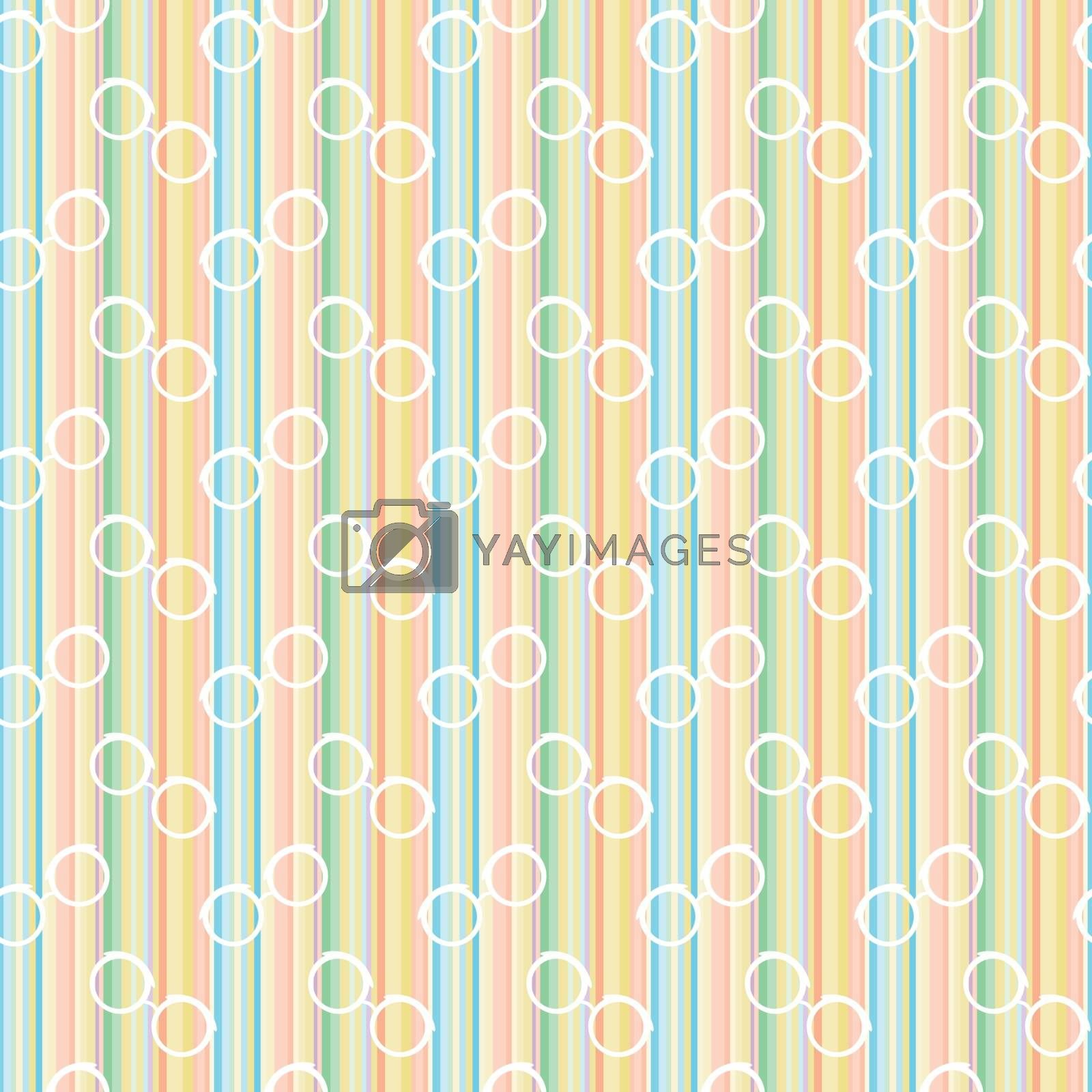 Glasses Pastel Line Seamless Pattern