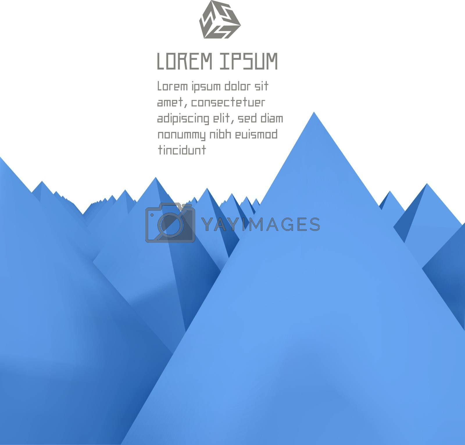 3D abstract illustration. 3D background.