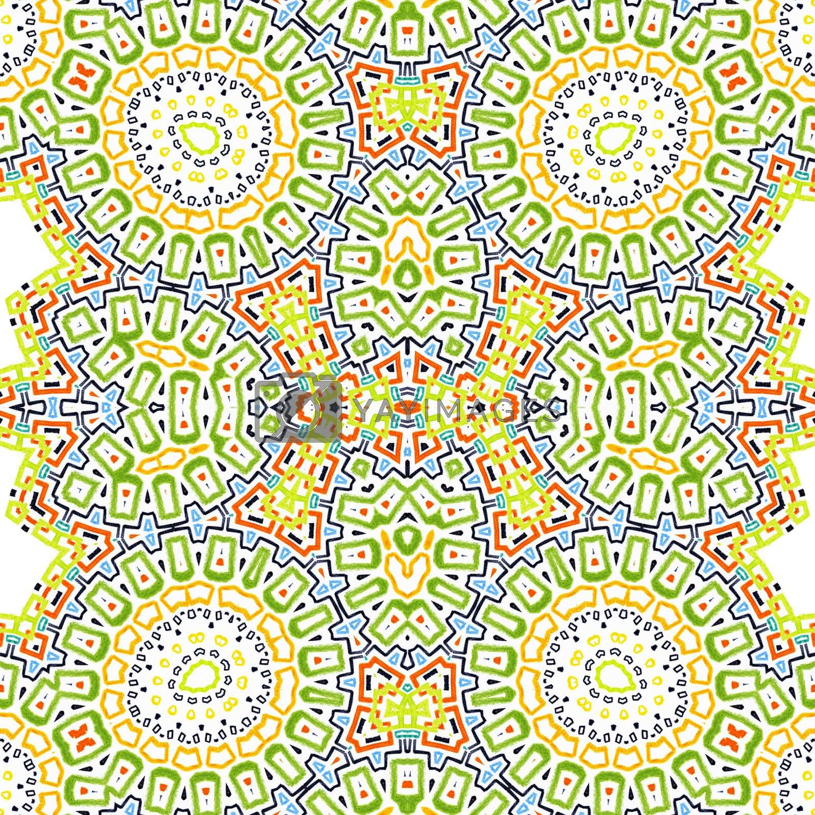 Bright colorful background with abstract pattern
