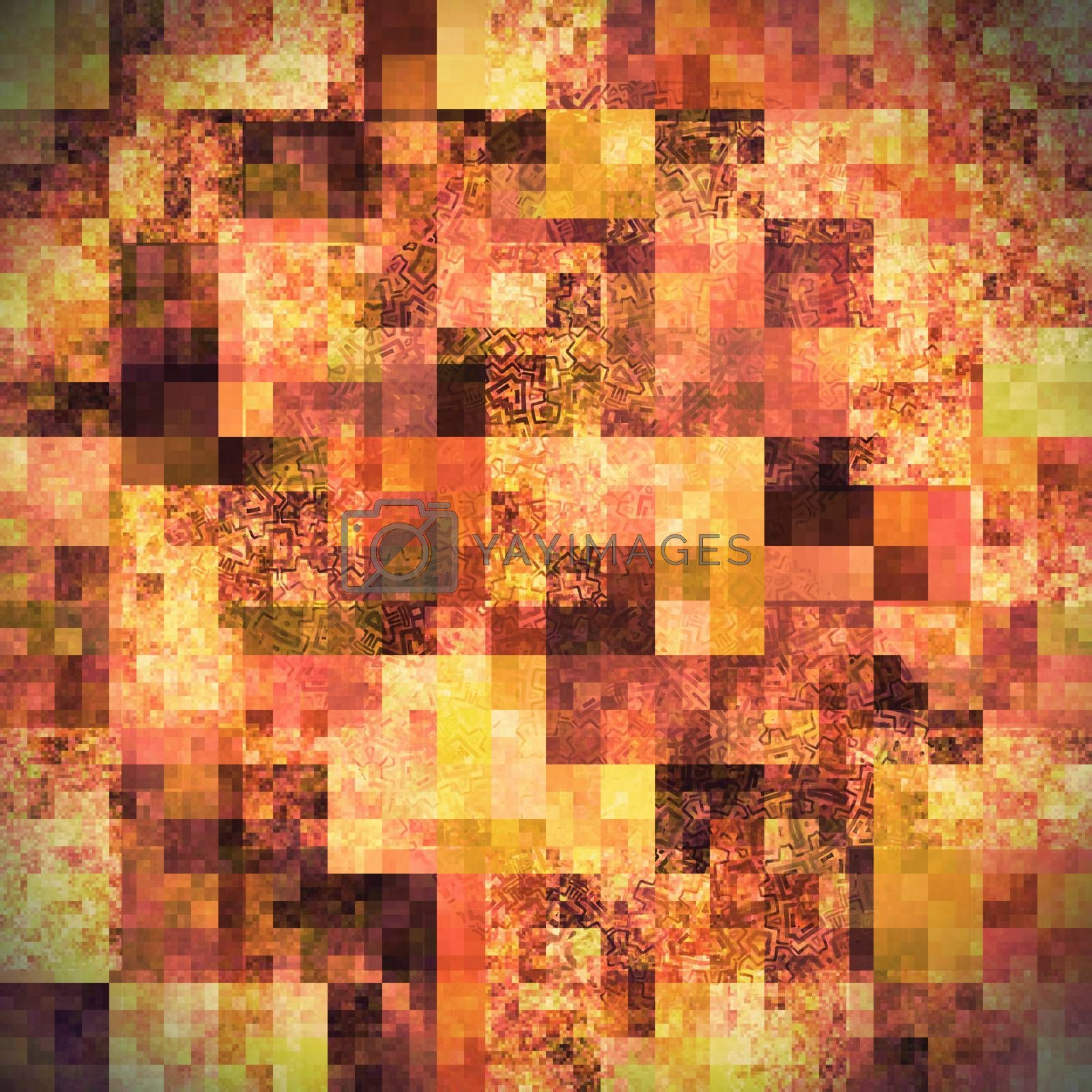 Abstract bright background with mosaic pattern