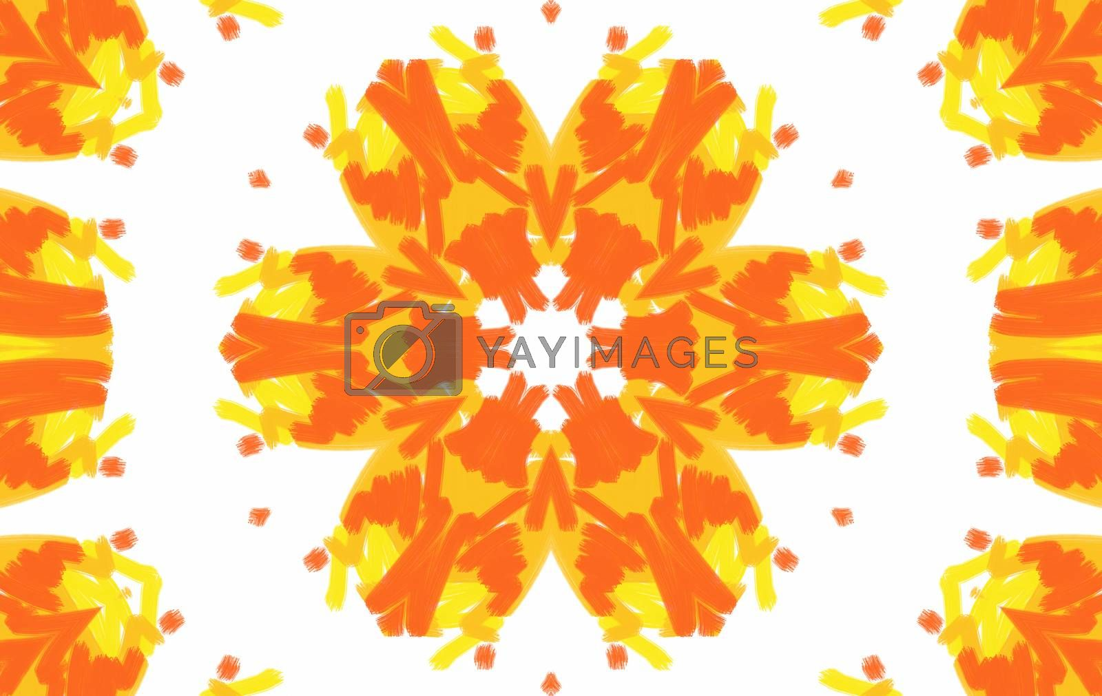 Abstract background with bright color pattern on white background