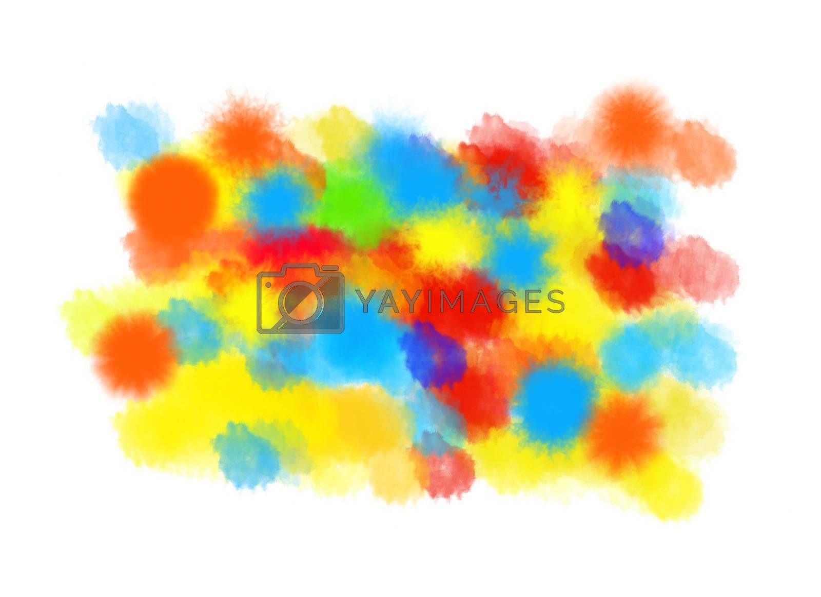 Abstract artistic watercolor bright background